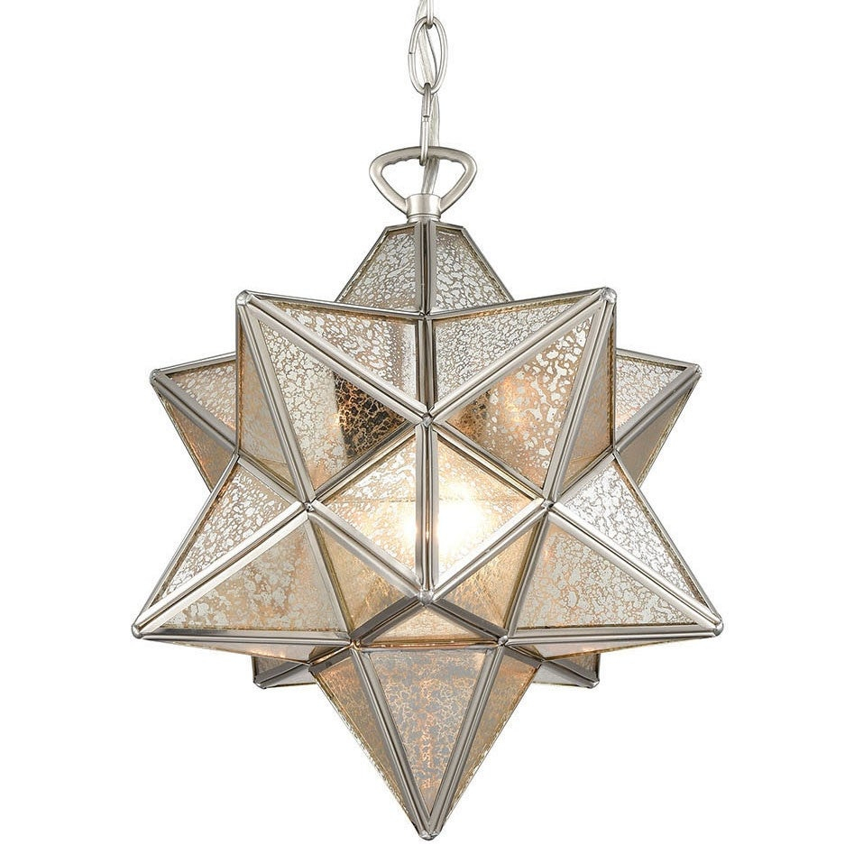 "Elk Home 1145 022 Moravian Star Single Light 12"" Wide Pendant Pertaining To 1 Light Single Star Pendants (View 15 of 30)"