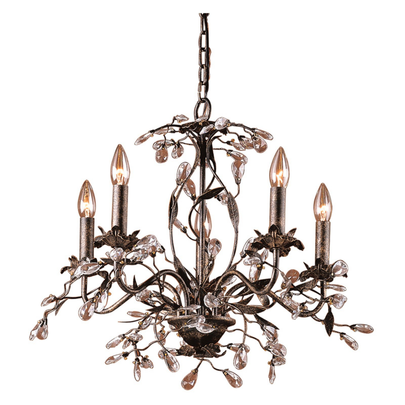 Elk Lighting Circeo Chandelier 8053/5 – 21W In. | Products Inside Hesse 5 Light Candle Style Chandeliers (Gallery 9 of 30)