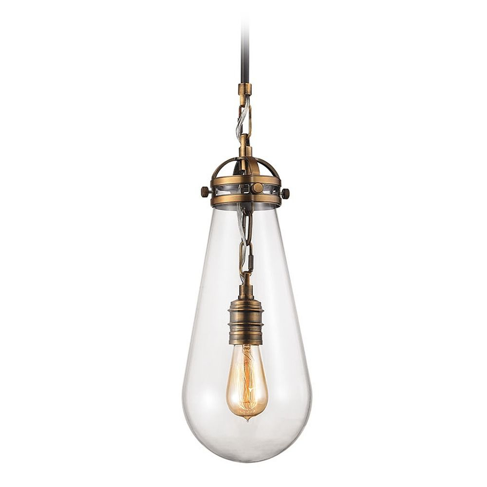Elk Lighting Gramercy Antique Brass, Oil Rubbed Bronze Mini Pendant Light With Bowl / Dome Shade At Destination Lighting With Vintage Edison 1 Light Bowl Pendants (View 19 of 30)