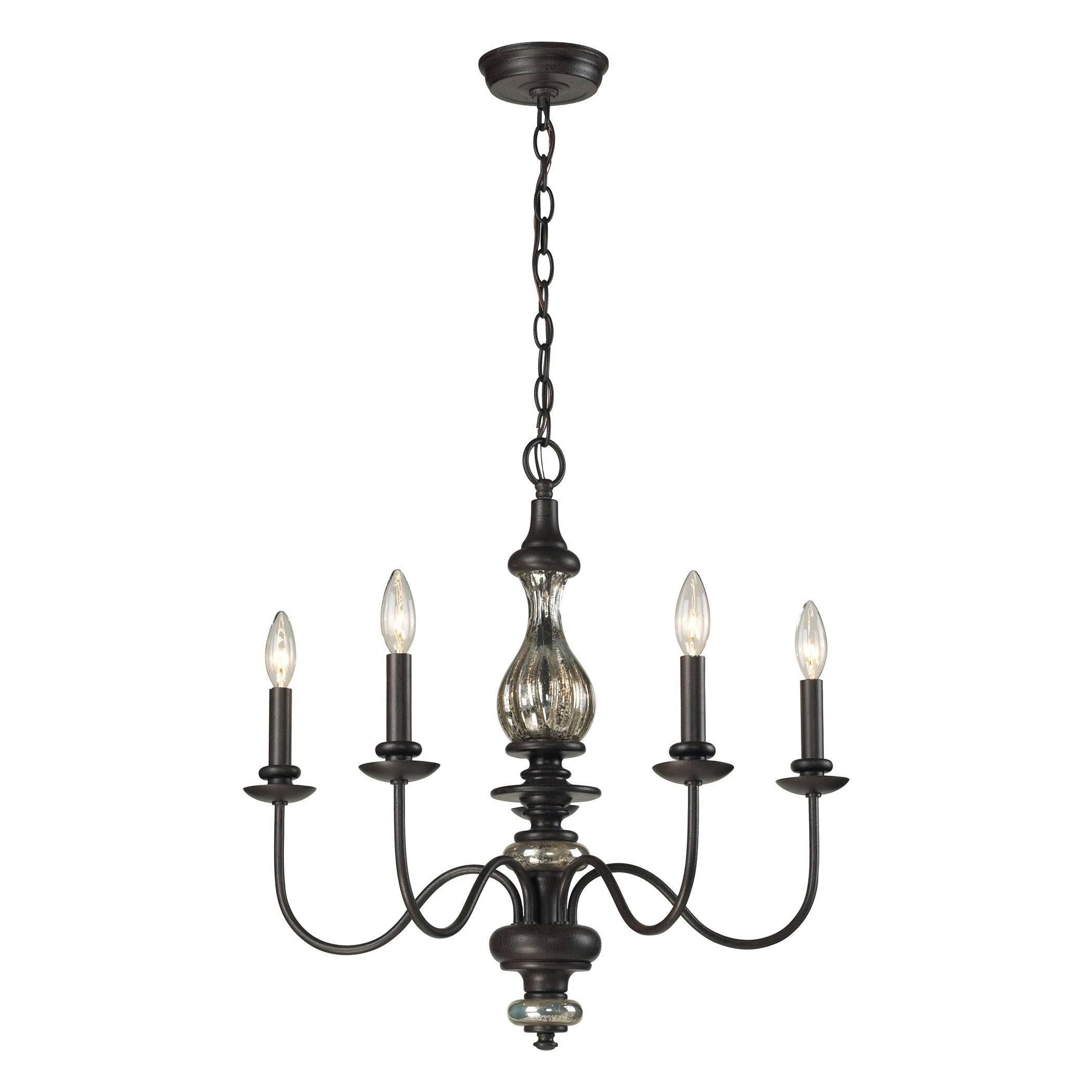 Elk Lighting Veronica 5 Light Vintage Chandelier Pertaining To Berger 5 Light Candle Style Chandeliers (Gallery 26 of 30)