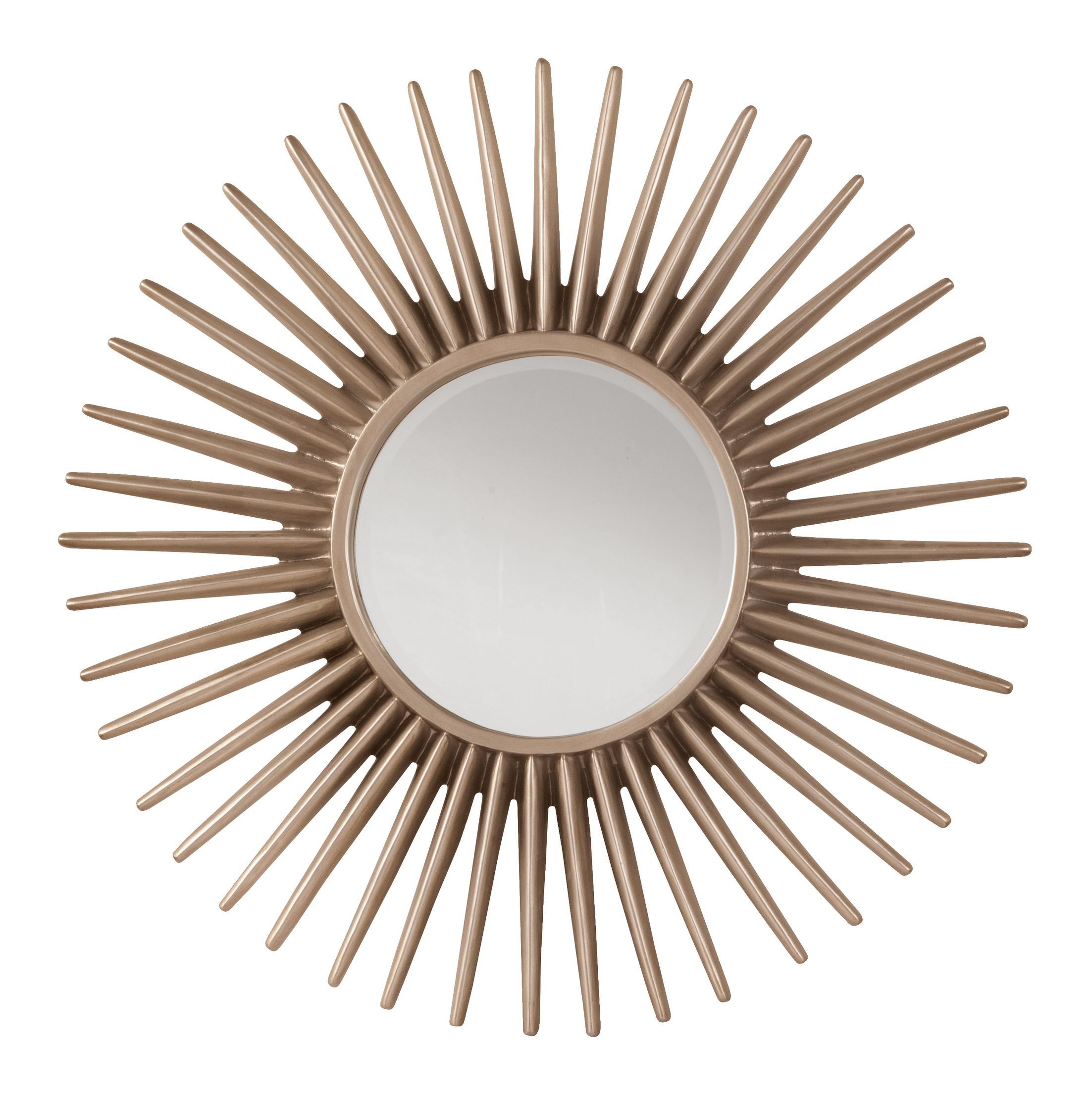 Ella Sunbeam Decorative Beveled Wall Mirror | Home | Mirror within Josephson Starburst Glam Beveled Accent Wall Mirrors (Image 4 of 22)