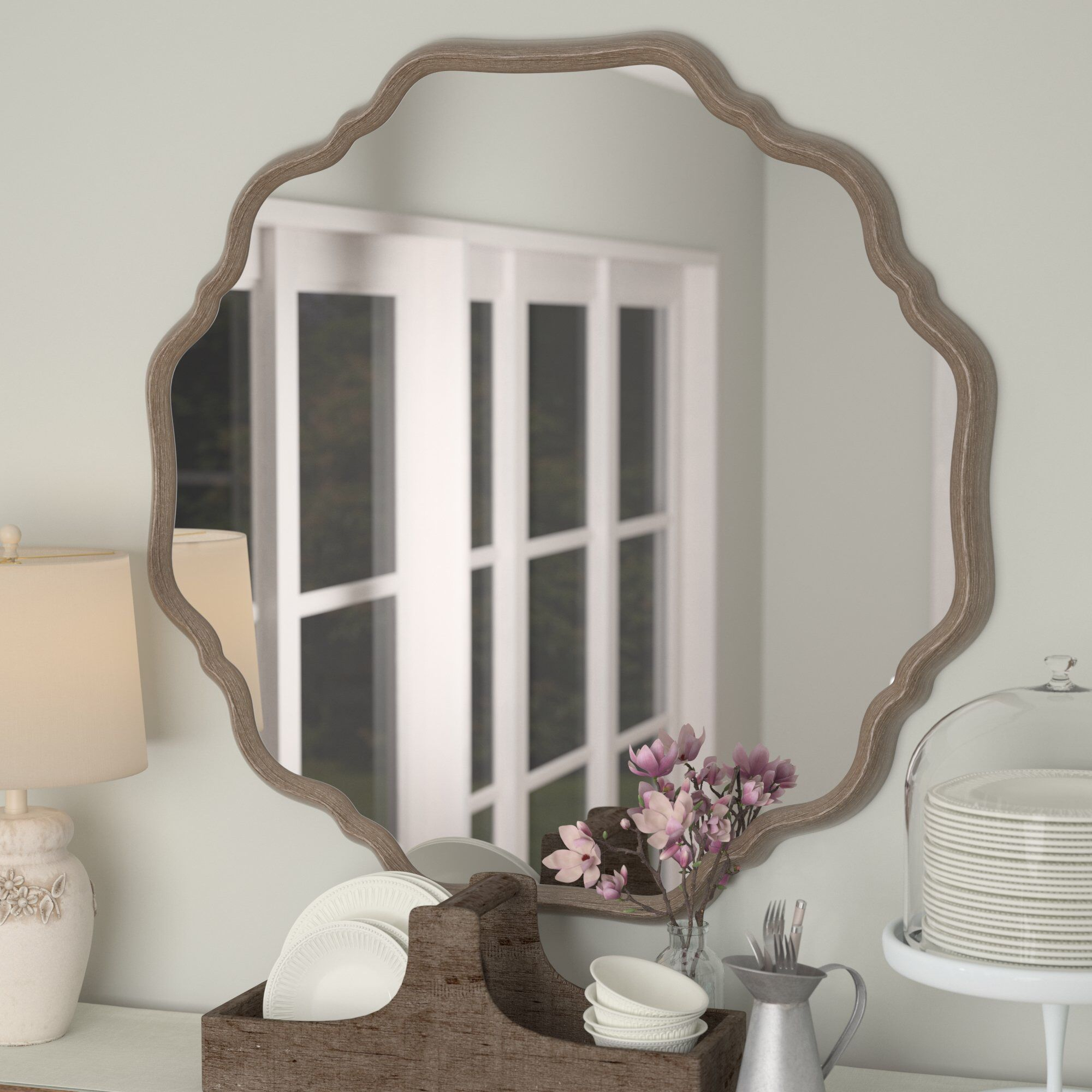Elzada Wall Mirror In 2019 | Furniture | Wall Mounted Mirror Within Ekaterina Arch/crowned Top Wall Mirrors (Gallery 27 of 30)