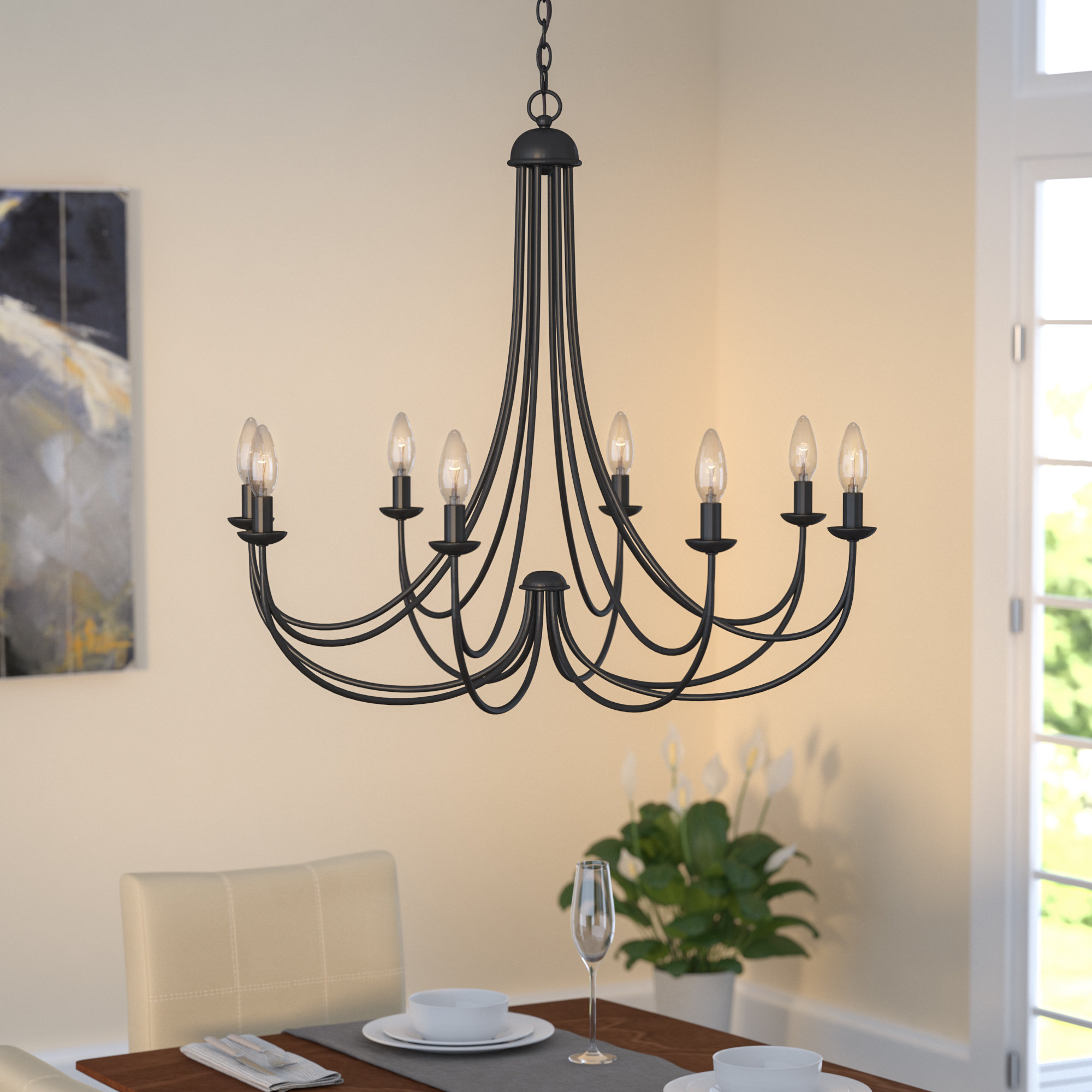 Emilia 8-Light Candle-Style Chandelier pertaining to Watford 9-Light Candle Style Chandeliers (Image 10 of 30)