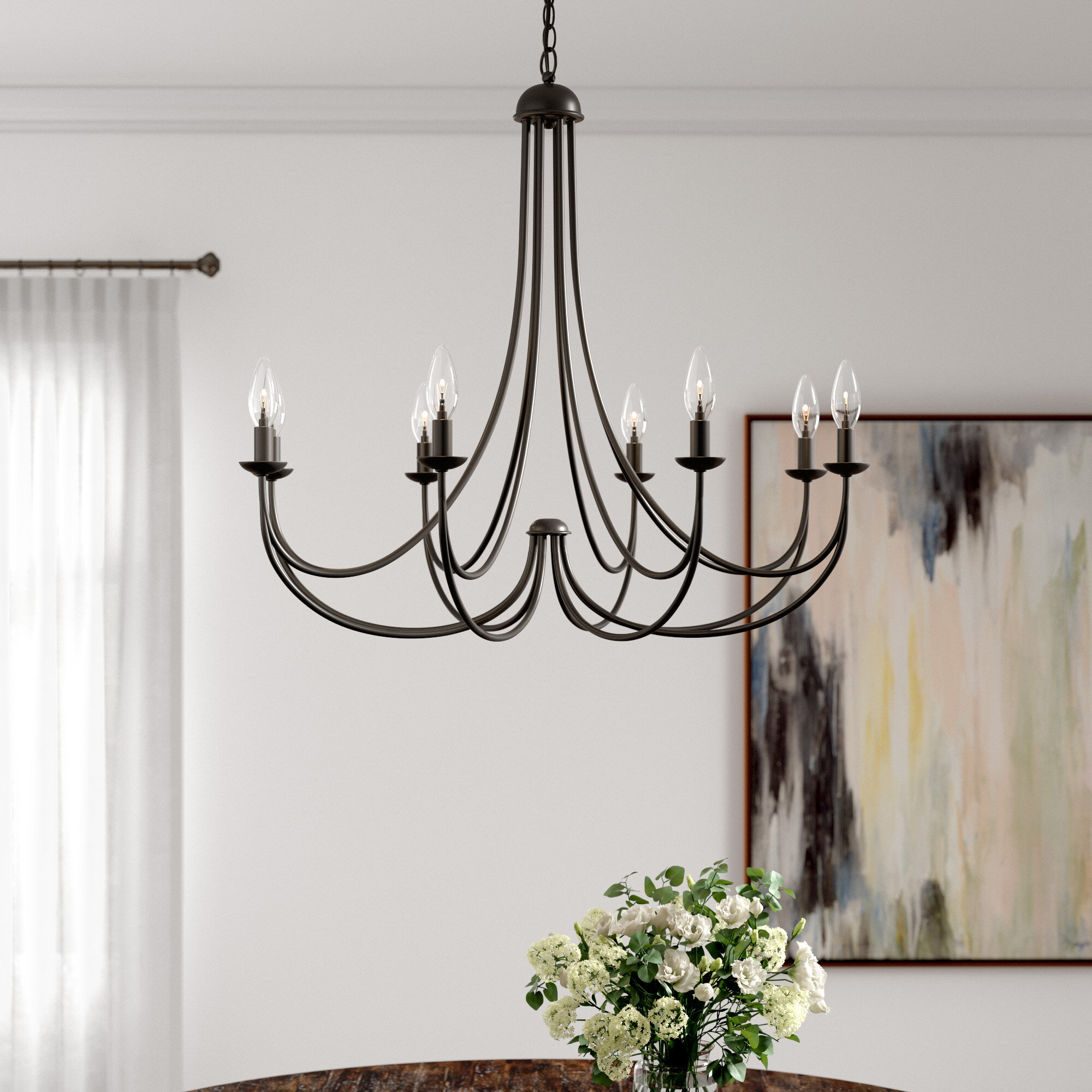 Emilia 8 Light Candle Style Chandelier With Regard To Watford 9 Light Candle Style Chandeliers (Gallery 19 of 30)