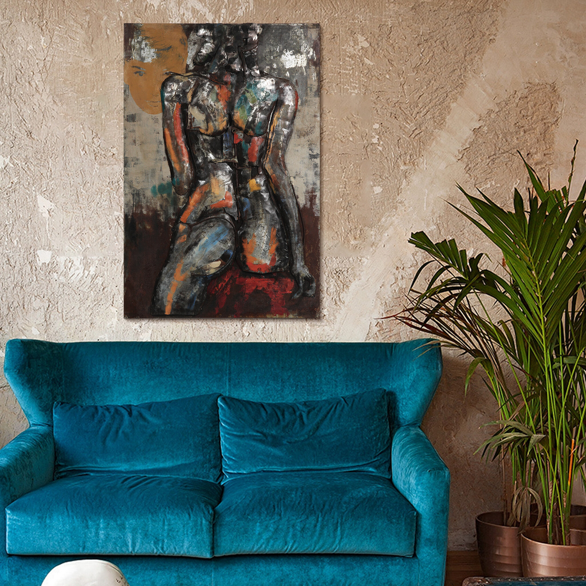 "Empire Art Direct ""nude Study 1"" Mixed Media Iron Hand Painted Dimensional Wall Décor Intended For ""bridge To The City"" Mixed Media Iron Hand Painted Dimensional Wall Decor (View 20 of 30)"