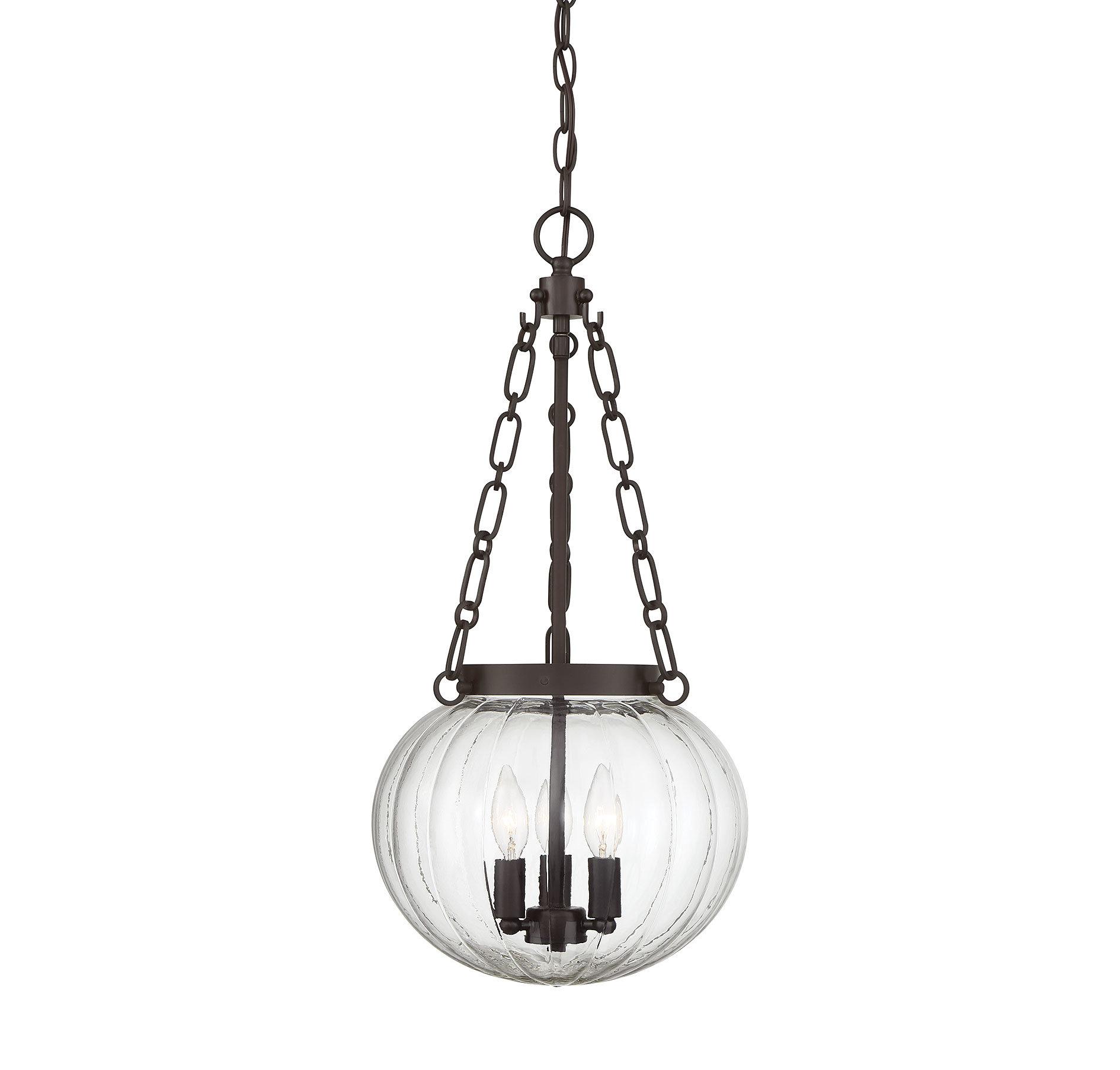 Emrick 3 Light Single Globe Pendant In Kilby 1 Light Pendants (Gallery 9 of 30)