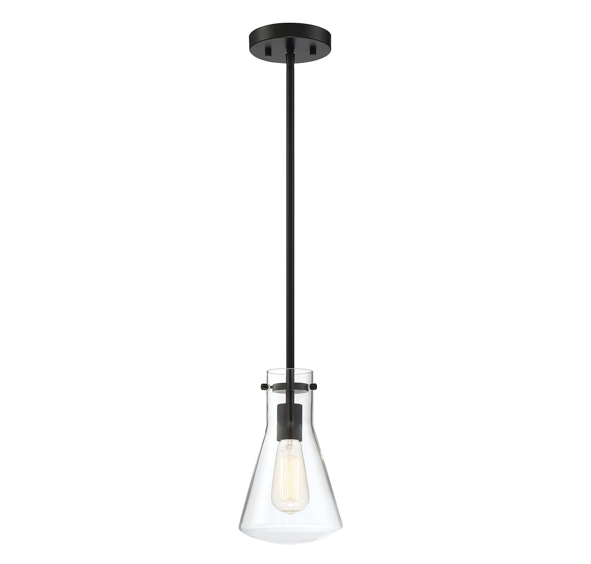 Enciso 1 Light Single Cone Pendant Throughout Moyer 1 Light Single Cylinder Pendants (Photo 16 of 30)
