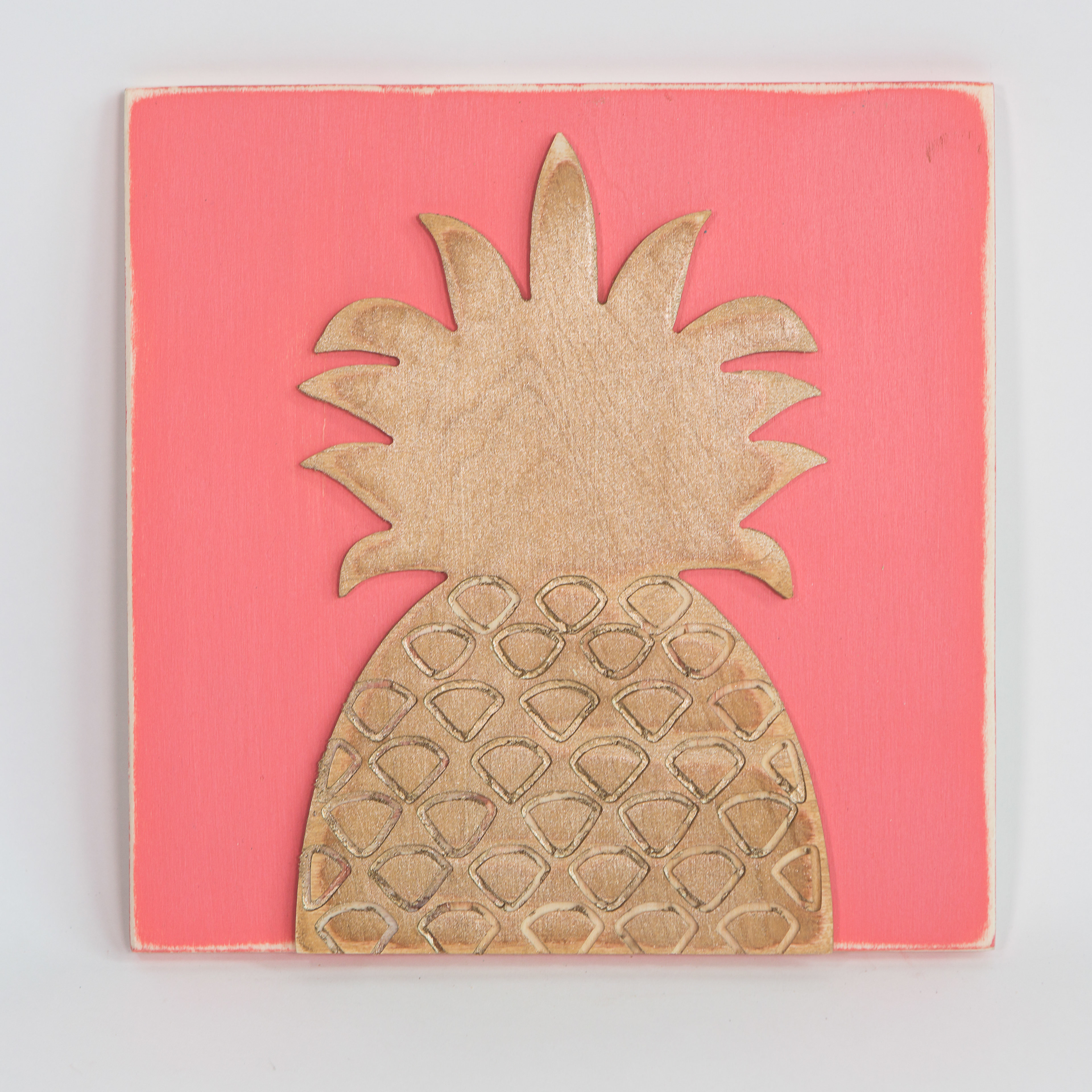 Engraved Pineapple Wall Décor With Pineapple Wall Decor (Gallery 15 of 30)