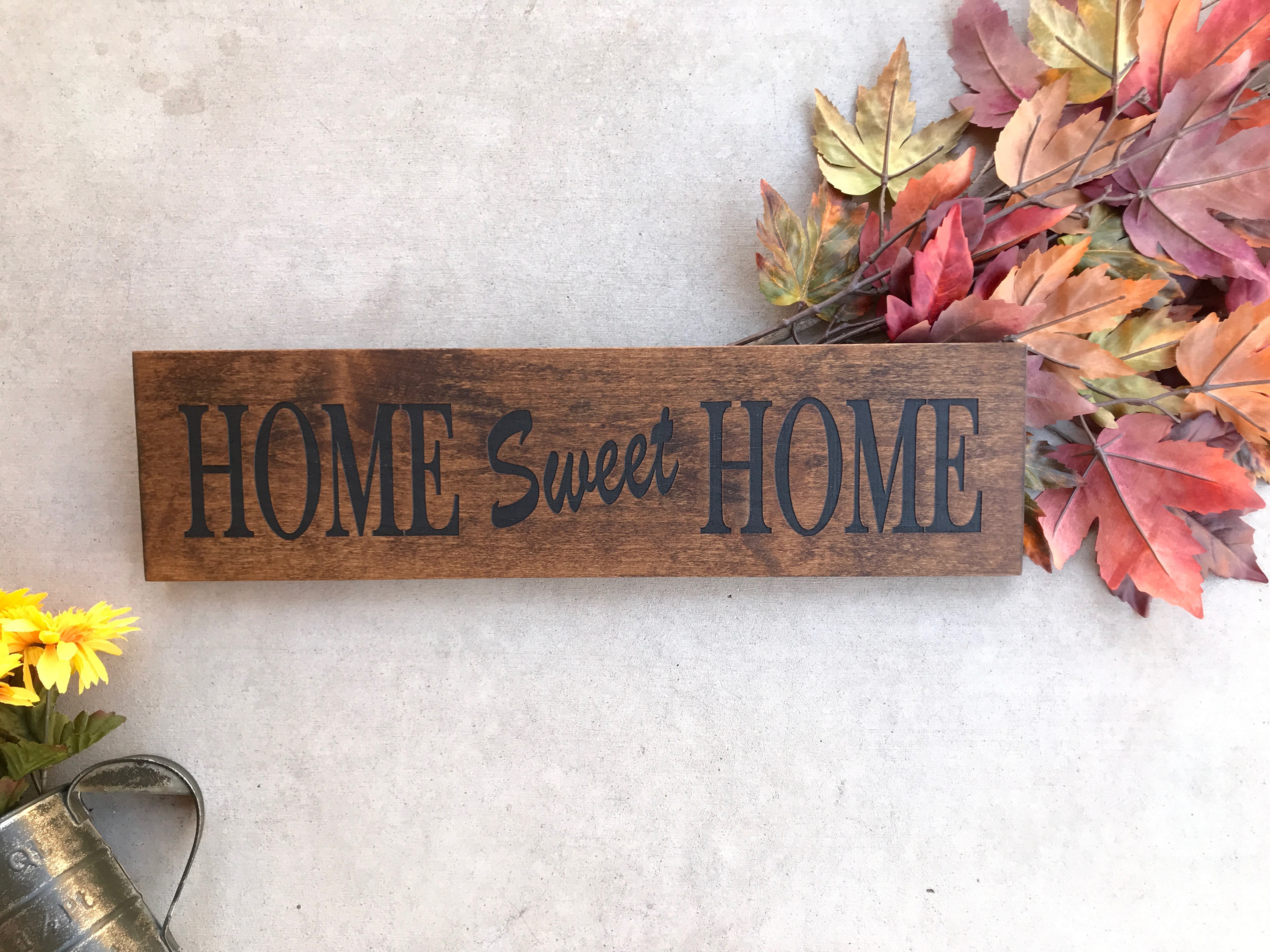 Engraved Wood Home Sign / Inspirational Sign / Custom Wall Inside Laser Engraved Home Sweet Home Wall Decor (Photo 7 of 30)