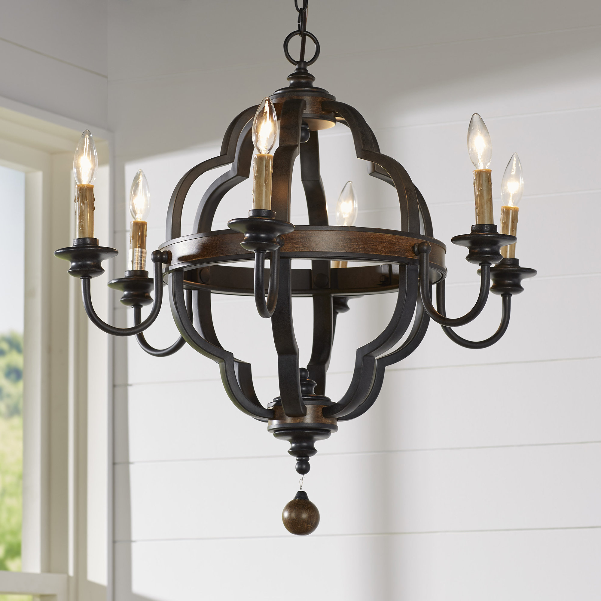 Enthoven 6 Light Chandelier With Regard To Donna 6 Light Globe Chandeliers (Photo 19 of 30)