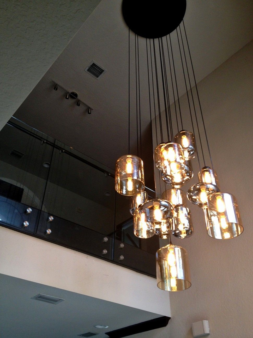 Entryway Decor Always Need A Luxurious Suspension Lamp In Zachery 5 Light Led Cluster Pendants (Gallery 14 of 30)
