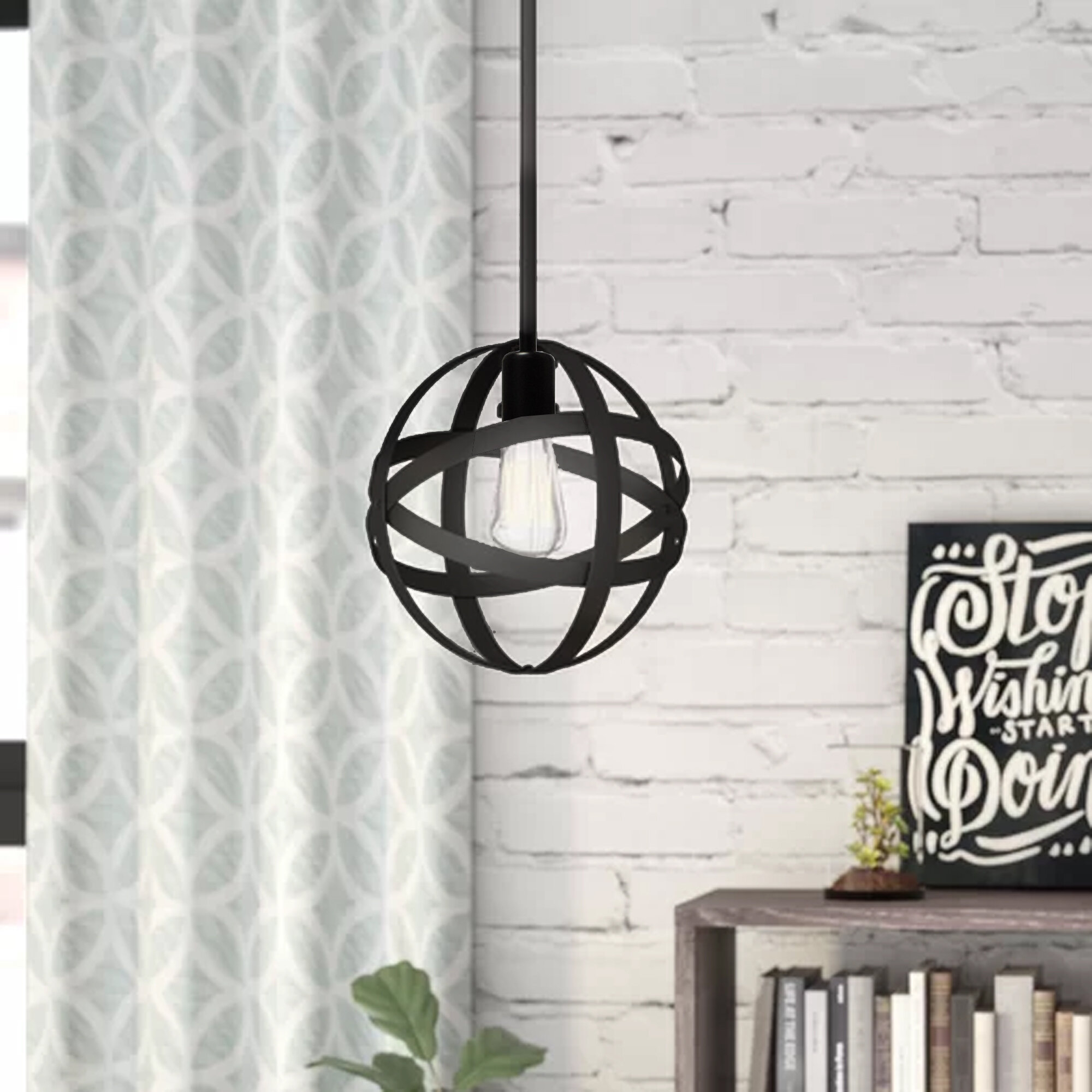 Enzo 1 Light Single Globe Pendant Pertaining To Prange 1 Light Single Globe Pendants (Photo 8 of 30)
