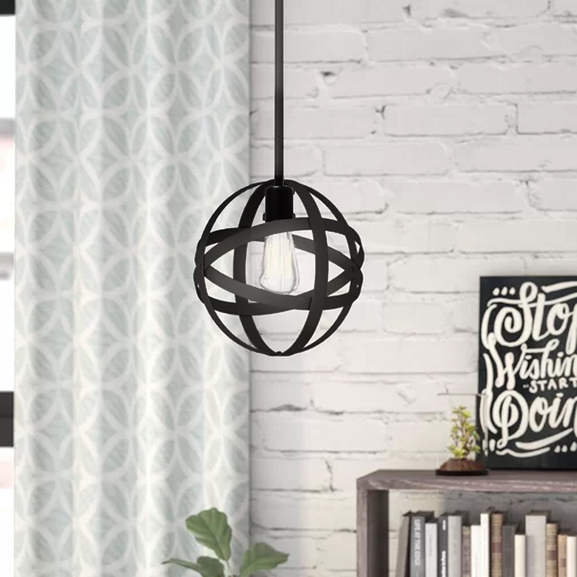 Enzo 1 Light Single Globe Pendant With 1 Light Geometric Globe Pendants (Photo 19 of 30)