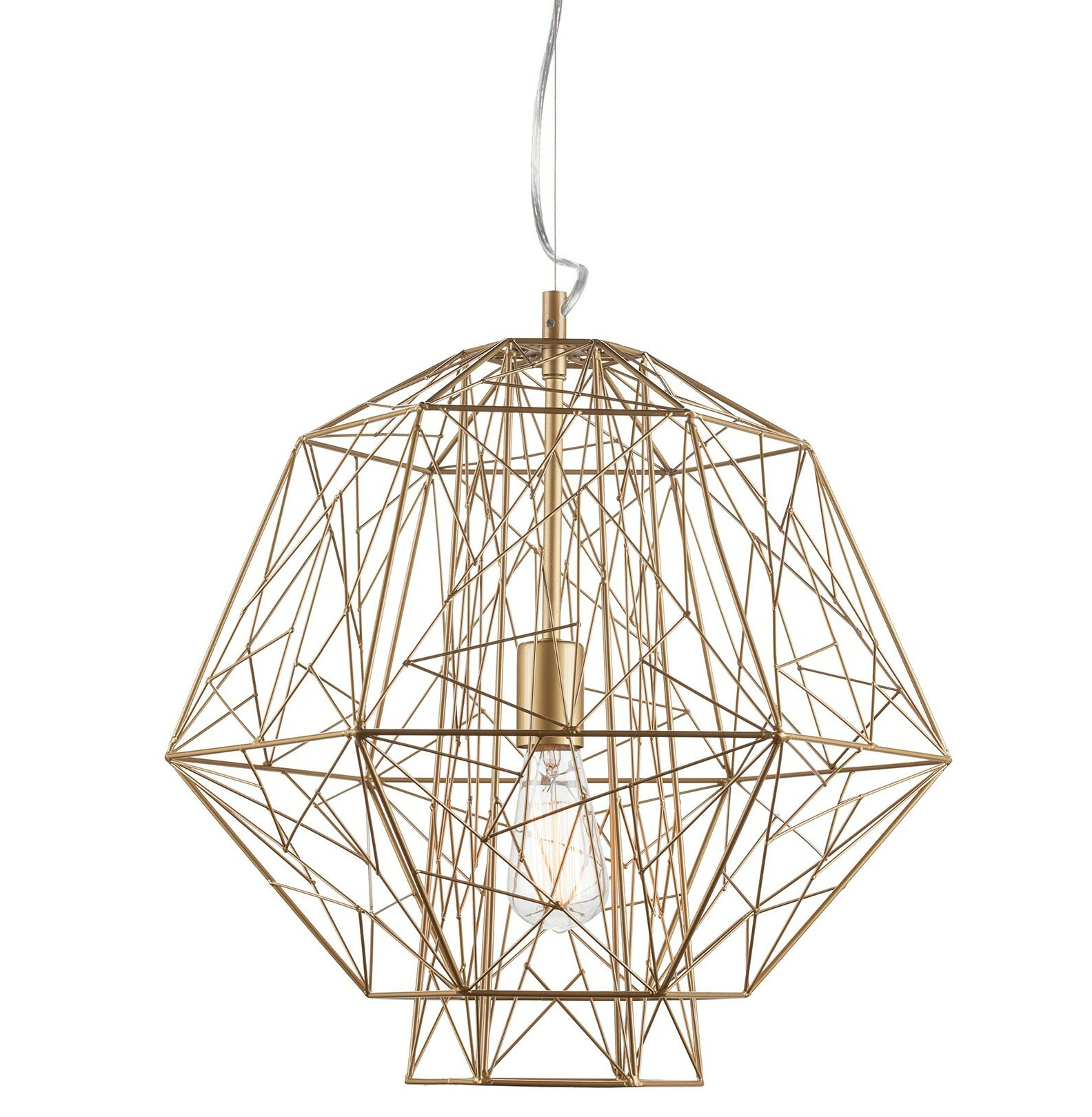 Epstein 1 Light Geometric Pendant In Hydetown 1 Light Single Geometric Pendants (View 5 of 30)