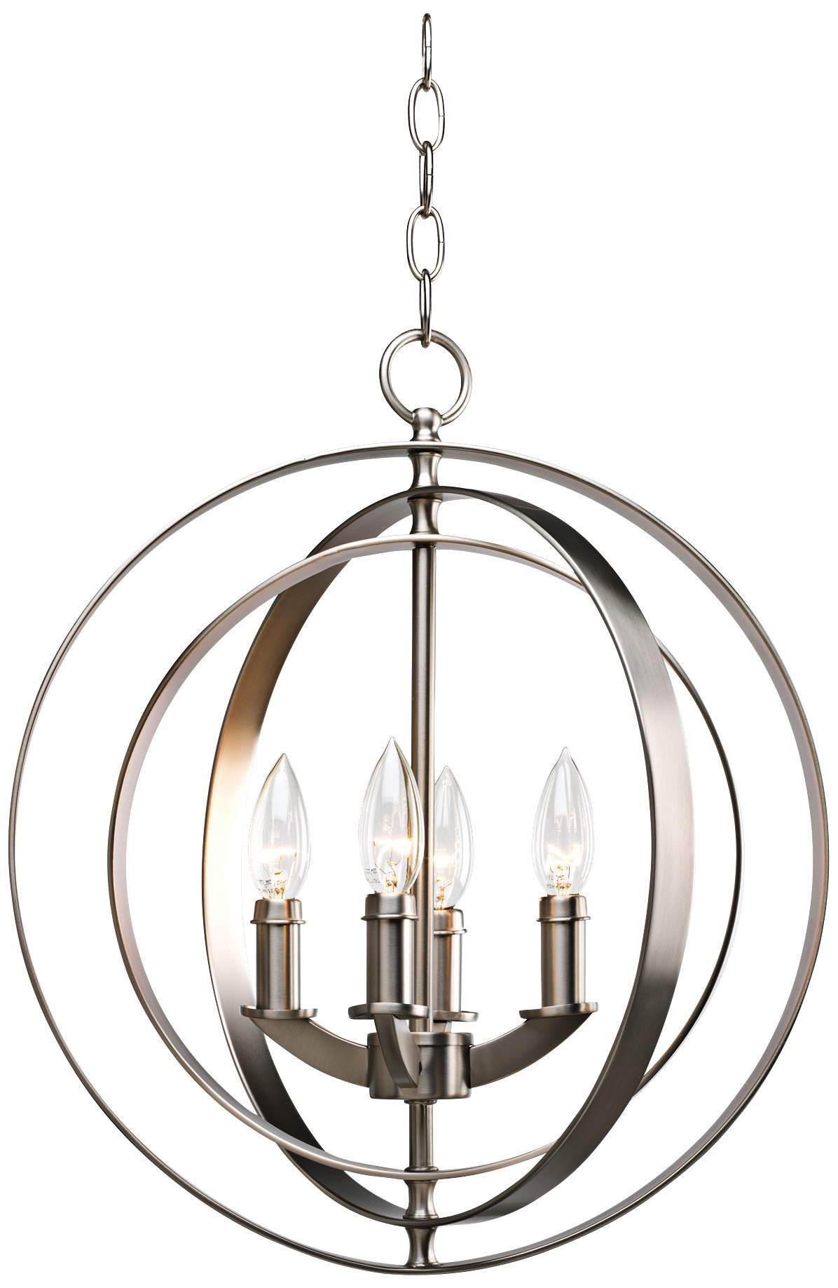 "Equinox Collection Silver 16"" Wide Pendant Light – #r7947 For Finnick 1 Light Geometric Pendants (Gallery 25 of 30)"