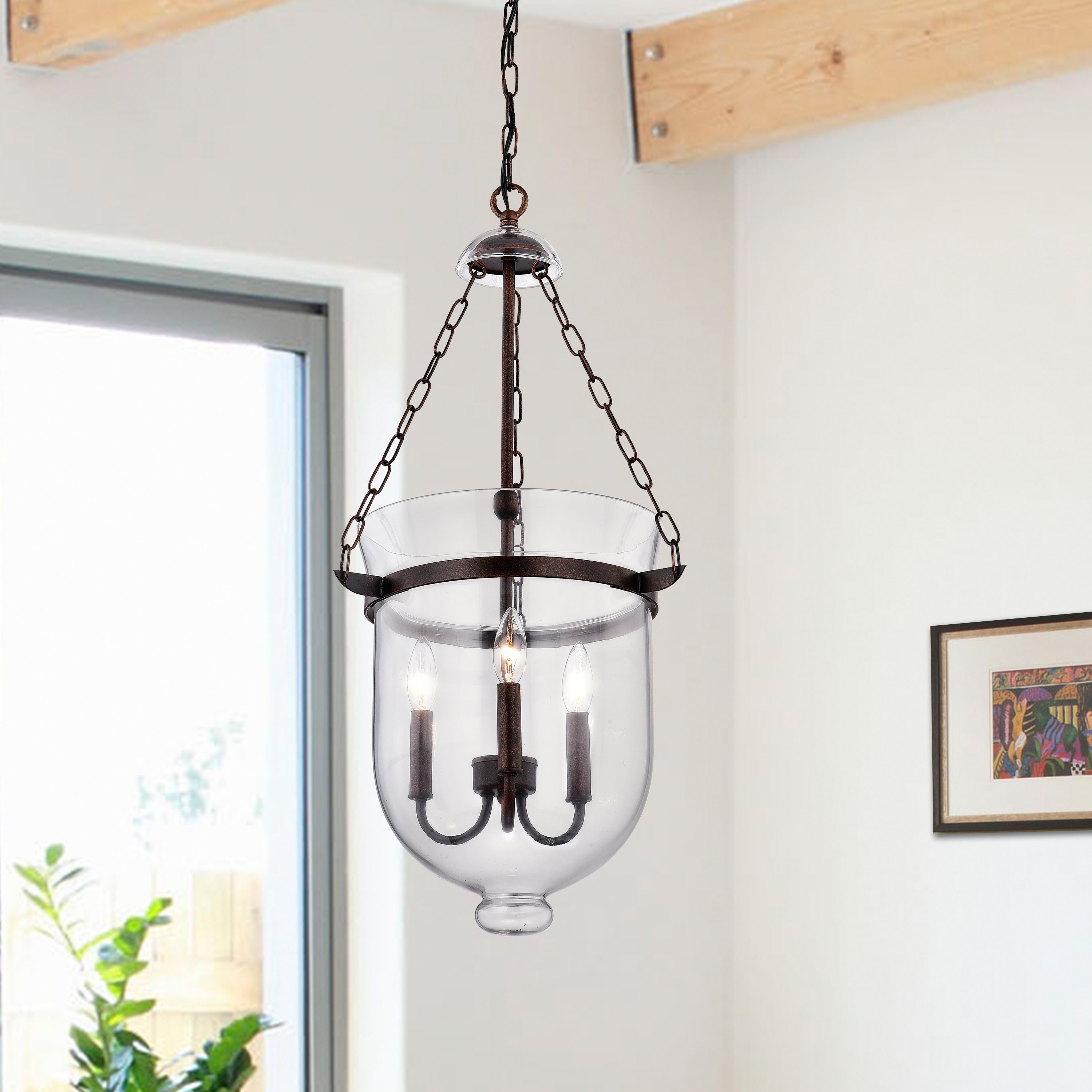 Erdmann 3-Light Single Urn Pendant throughout 3-Light Single Urn Pendants (Image 12 of 30)