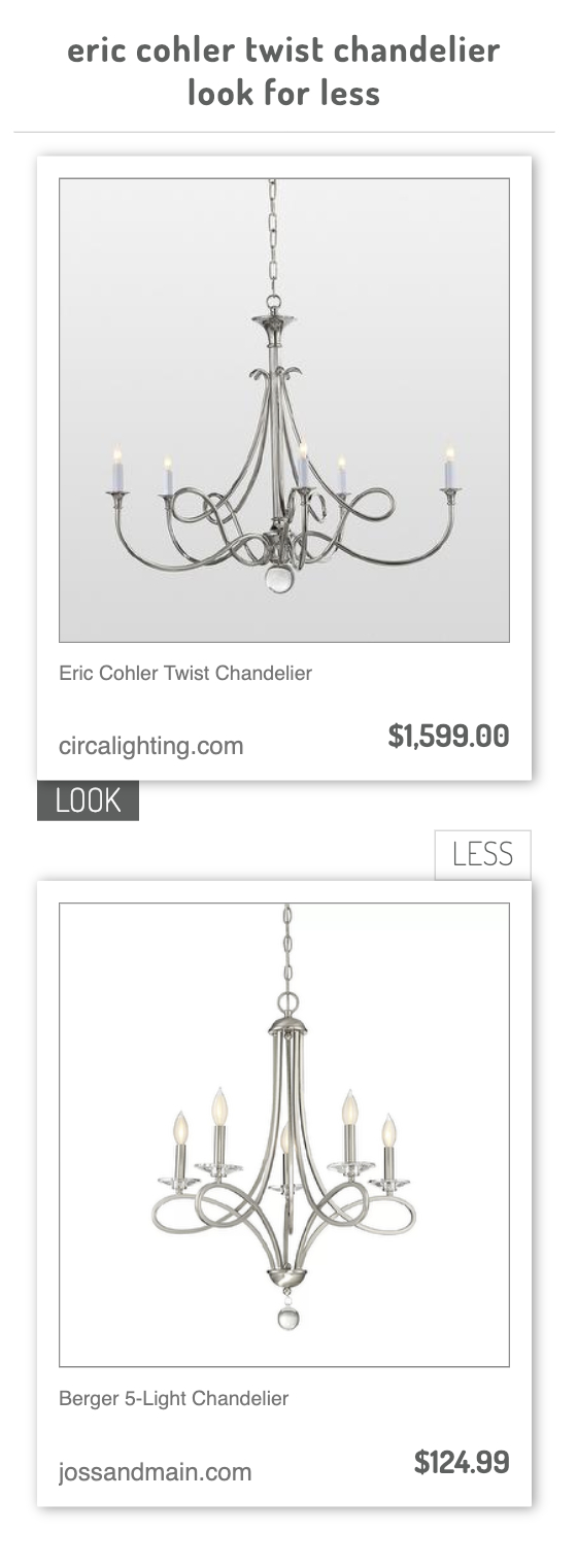 Eric Cohler Twist Chandelier Vs Berger 5 Light Chandelier With Regard To Berger 5 Light Candle Style Chandeliers (Gallery 16 of 30)