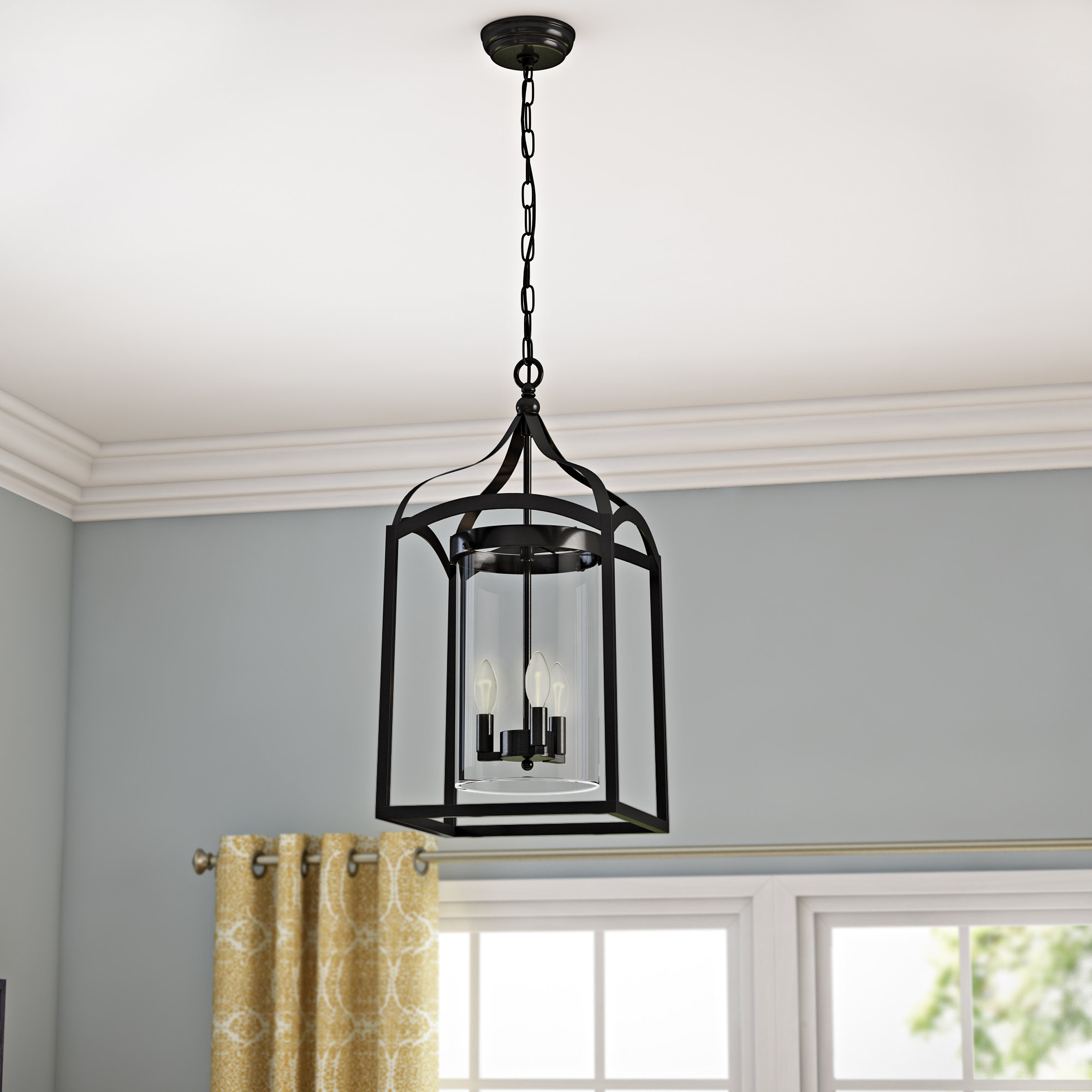 Ericsson 3-Light Lantern Square Pendant within Sherri-Ann 3-Light Lantern Square / Rectangle Pendants (Image 6 of 30)