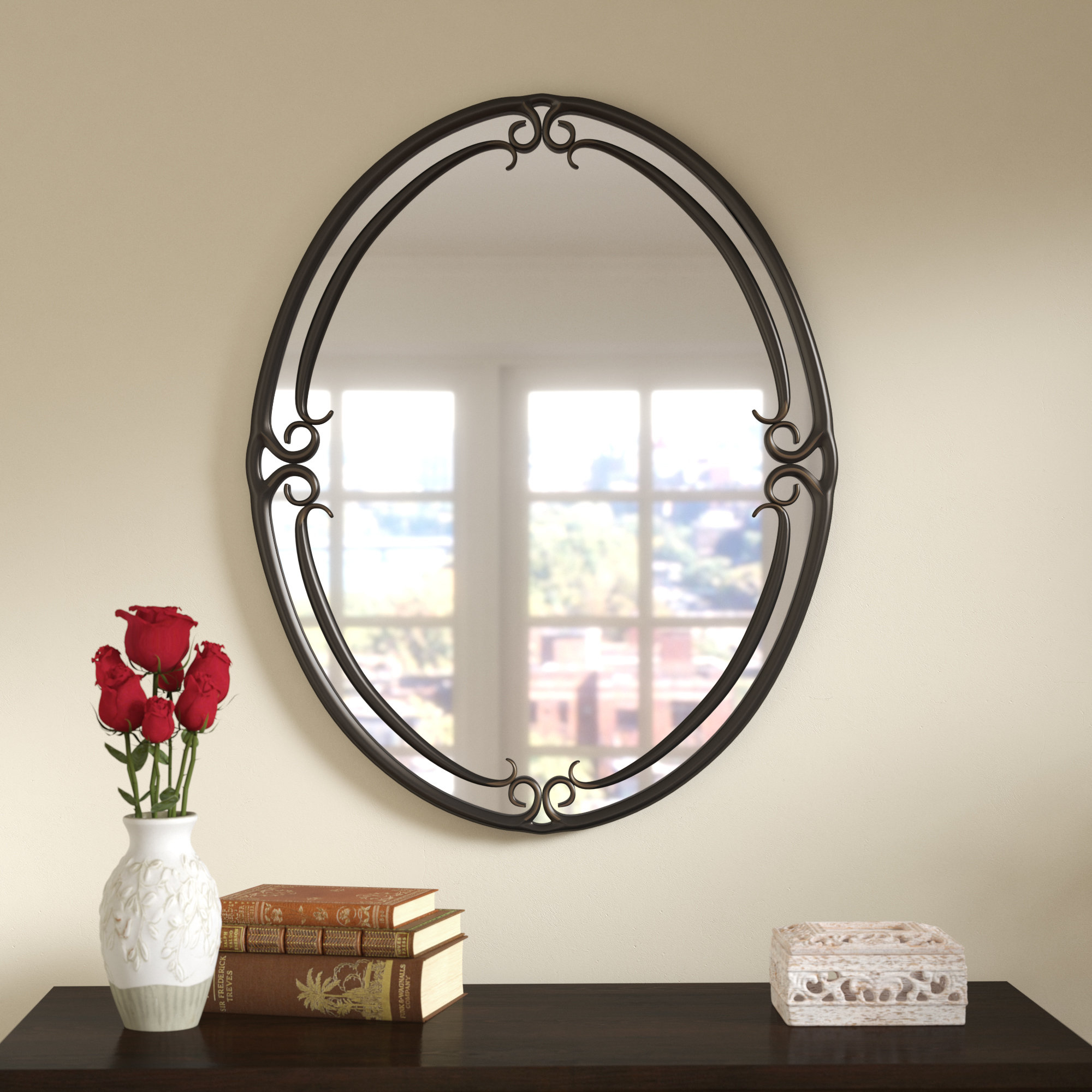 Espresso Finish Wall Mirror | Wayfair In Polen Traditional Wall Mirrors (Photo 9 of 30)