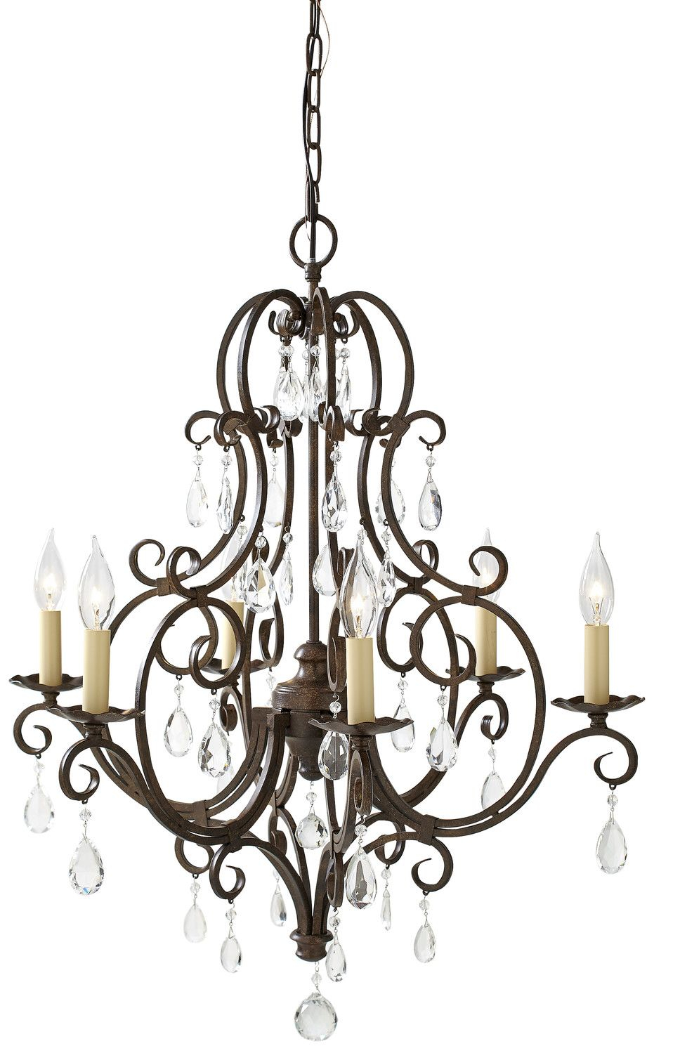 Esse 6-Light Candle Style Chandelier In 2019 | Lighting regarding Camilla 9-Light Candle Style Chandeliers (Image 13 of 30)