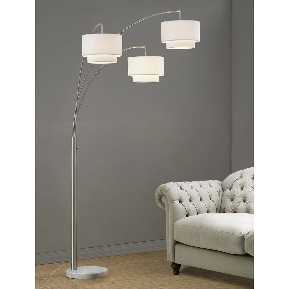 "Estabrook Broadway 84"" Tree Floor Lamp Within Rings Wall Decor By Wrought Studio (Gallery 14 of 30)"