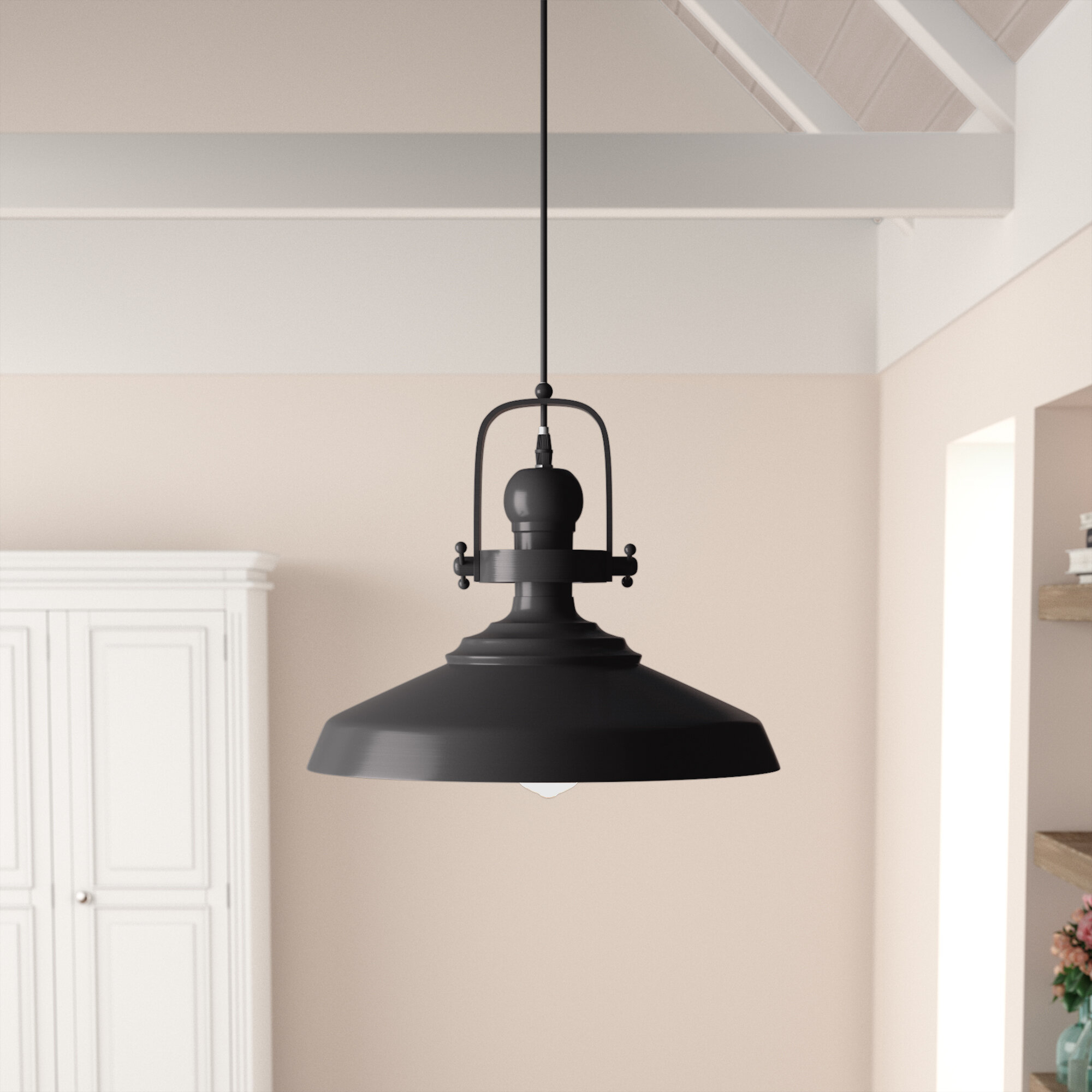 Estelle 1-Light Single Dome Pendant within 1-Light Single Dome Pendants (Image 10 of 30)
