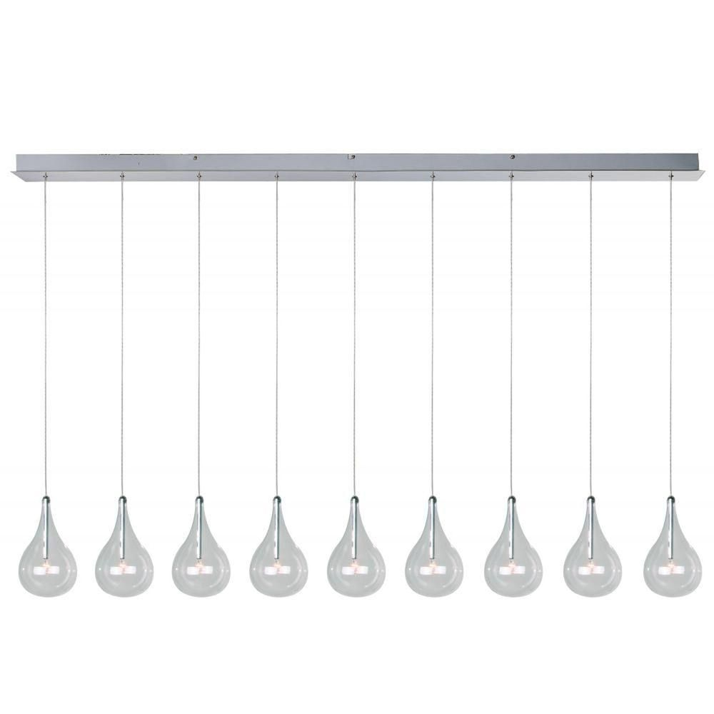 Et2 Larmes 9 Light Polished Chrome Pendant | Products In Regarding Neal 9 Light Kitchen Island Teardrop Pendants (Gallery 15 of 30)