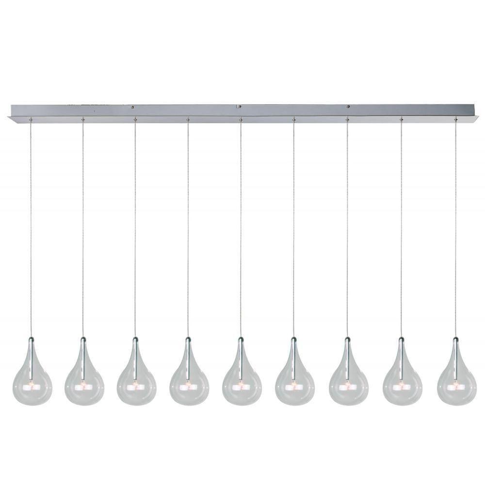 Et2 Larmes 9 Light Polished Chrome Pendant | Products In Regarding Neal 9 Light Kitchen Island Teardrop Pendants (Photo 15 of 30)