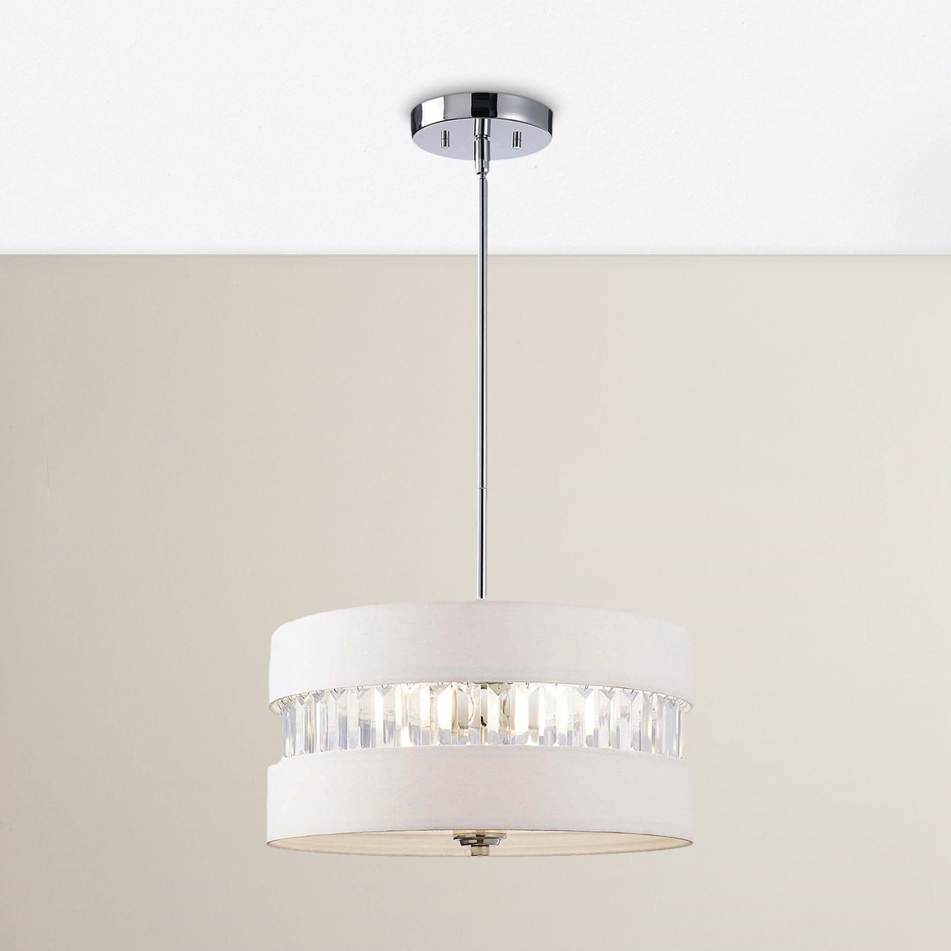 Ethelinde 3 Light Drum Chandelier Throughout Friedland 3 Light Drum Tiered Pendants (View 5 of 30)