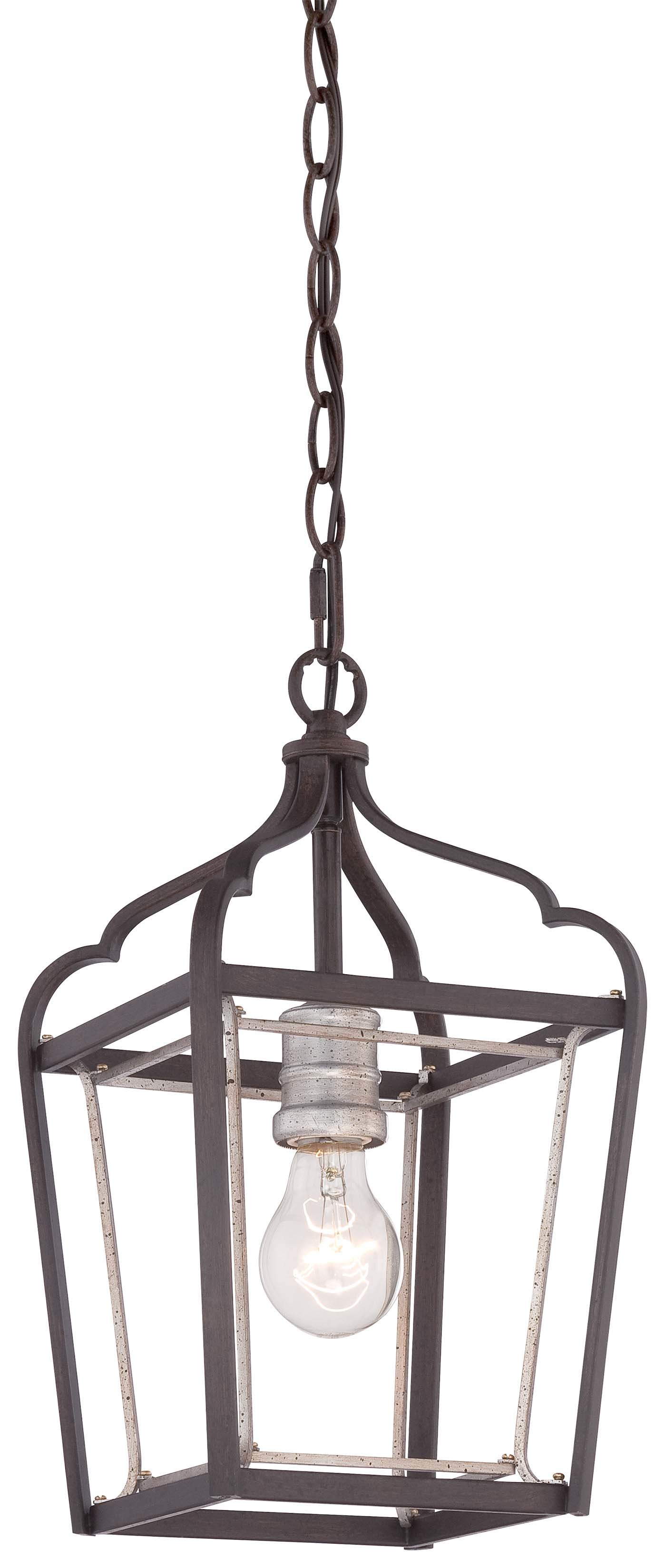 Evangeline 1-Light Lantern Geometric Pendant with regard to Sherri-Ann 3-Light Lantern Square / Rectangle Pendants (Image 7 of 30)