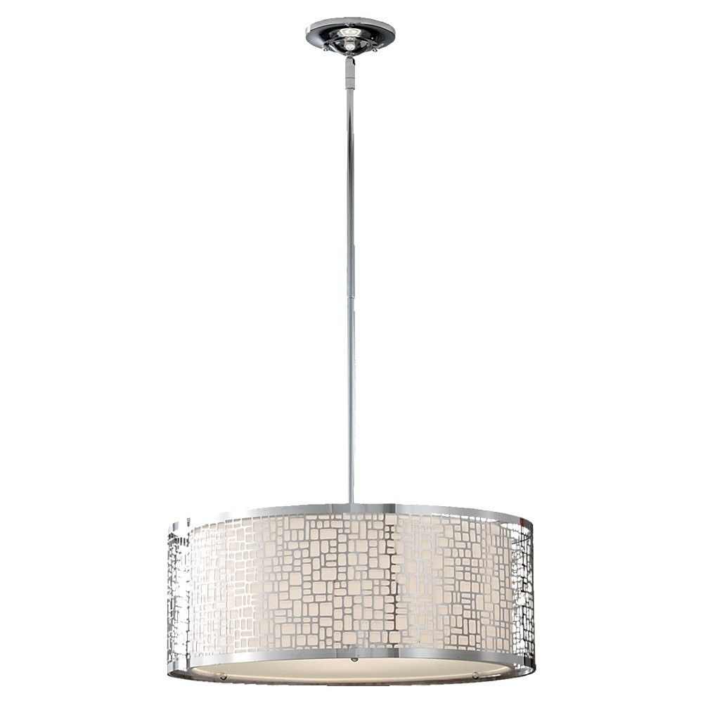 Evart 3-Light Drum Pendant | Products inside Montes 3-Light Drum Chandeliers (Image 6 of 30)