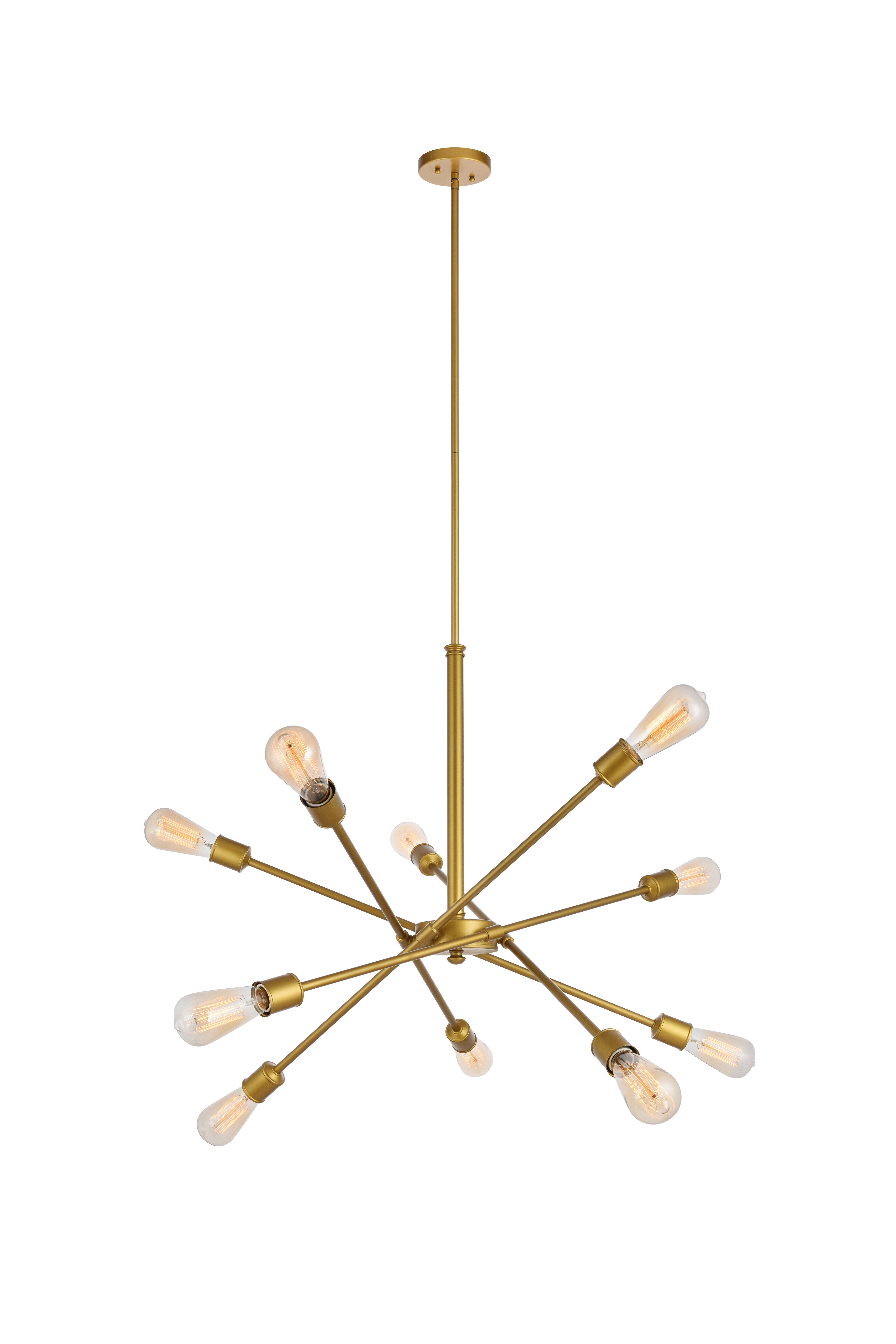 Everett 10 Light Sputnik Chandelier In Everett 10 Light Sputnik Chandeliers (Gallery 3 of 30)