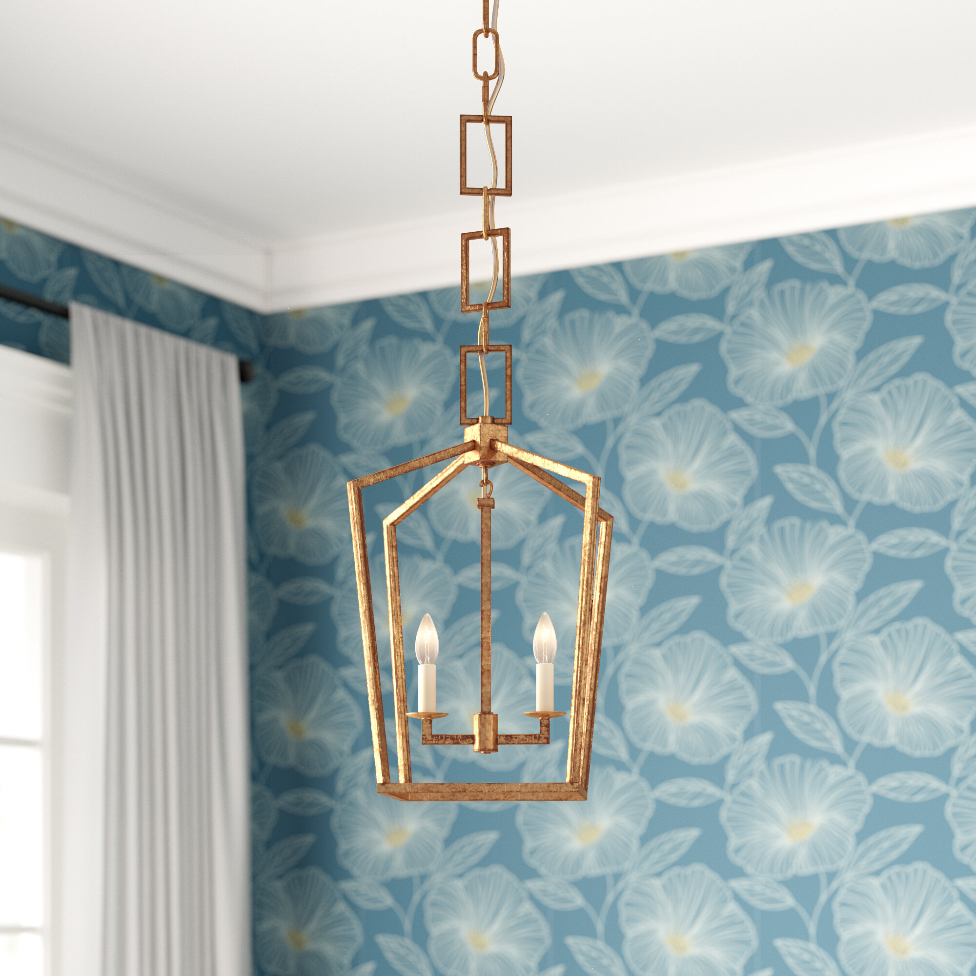 Everly Quinn Isoline 2-Light Geometric Pendant intended for Isoline 2-Light Lantern Geometric Pendants (Image 6 of 30)