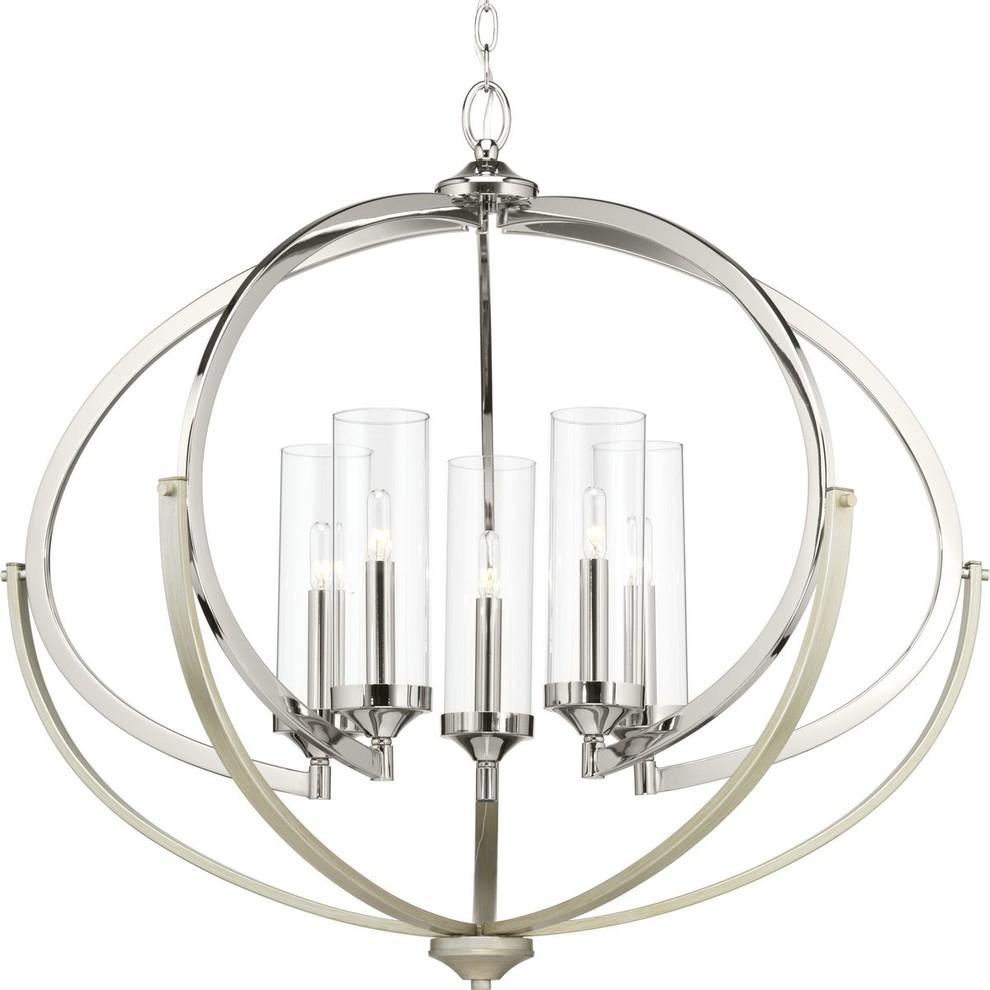 Evoke 5 Light Chandelier For Whitten 4 Light Crystal Chandeliers (Gallery 17 of 30)