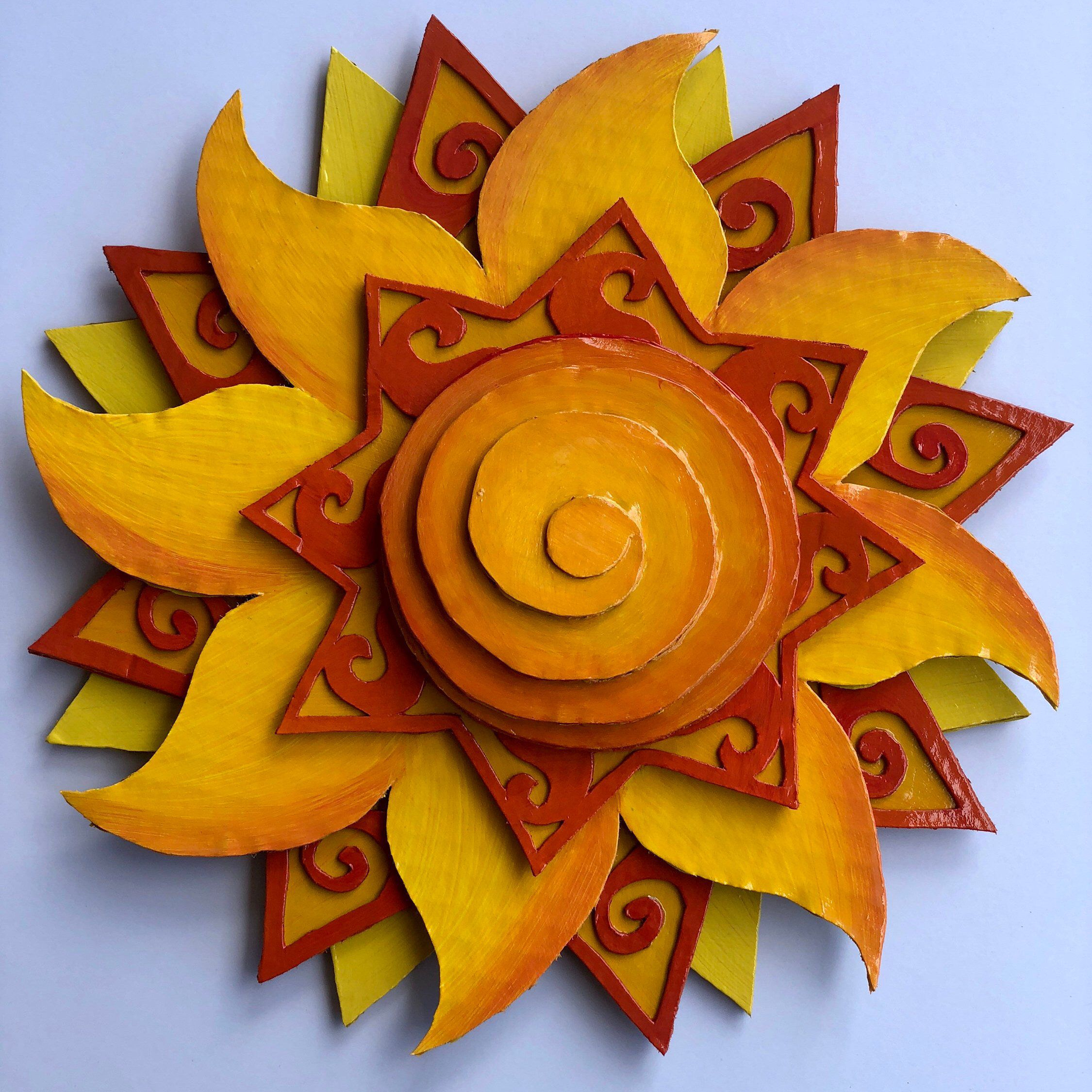 Excited To Share This Item From My #etsy Shop: Sun Wall Pertaining To Recycled Moon And Sun Wall Decor (Gallery 17 of 30)