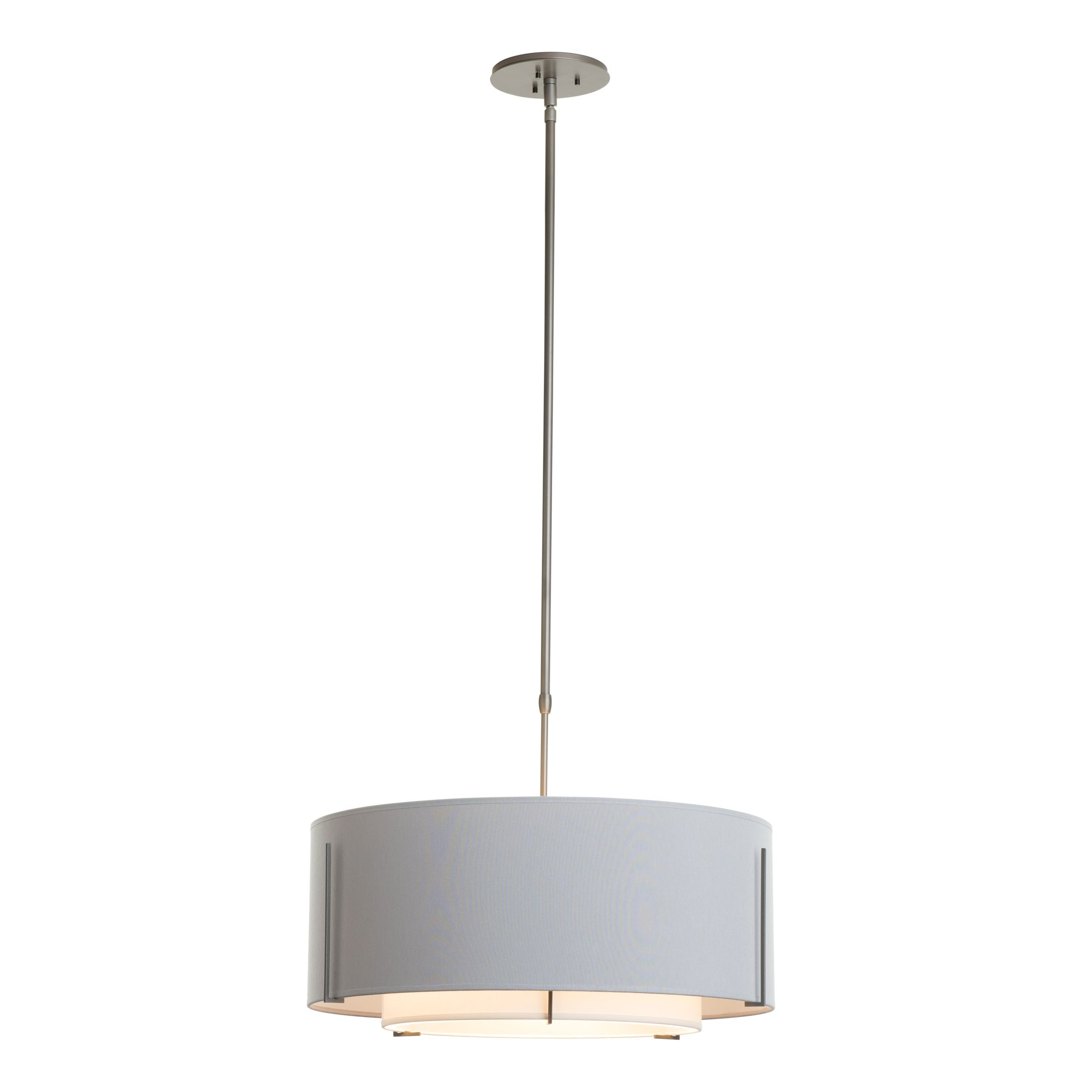 Exos Double Shade Pendant – Hubbardton Forge For Vincent 5 Light Drum Chandeliers (Photo 22 of 30)