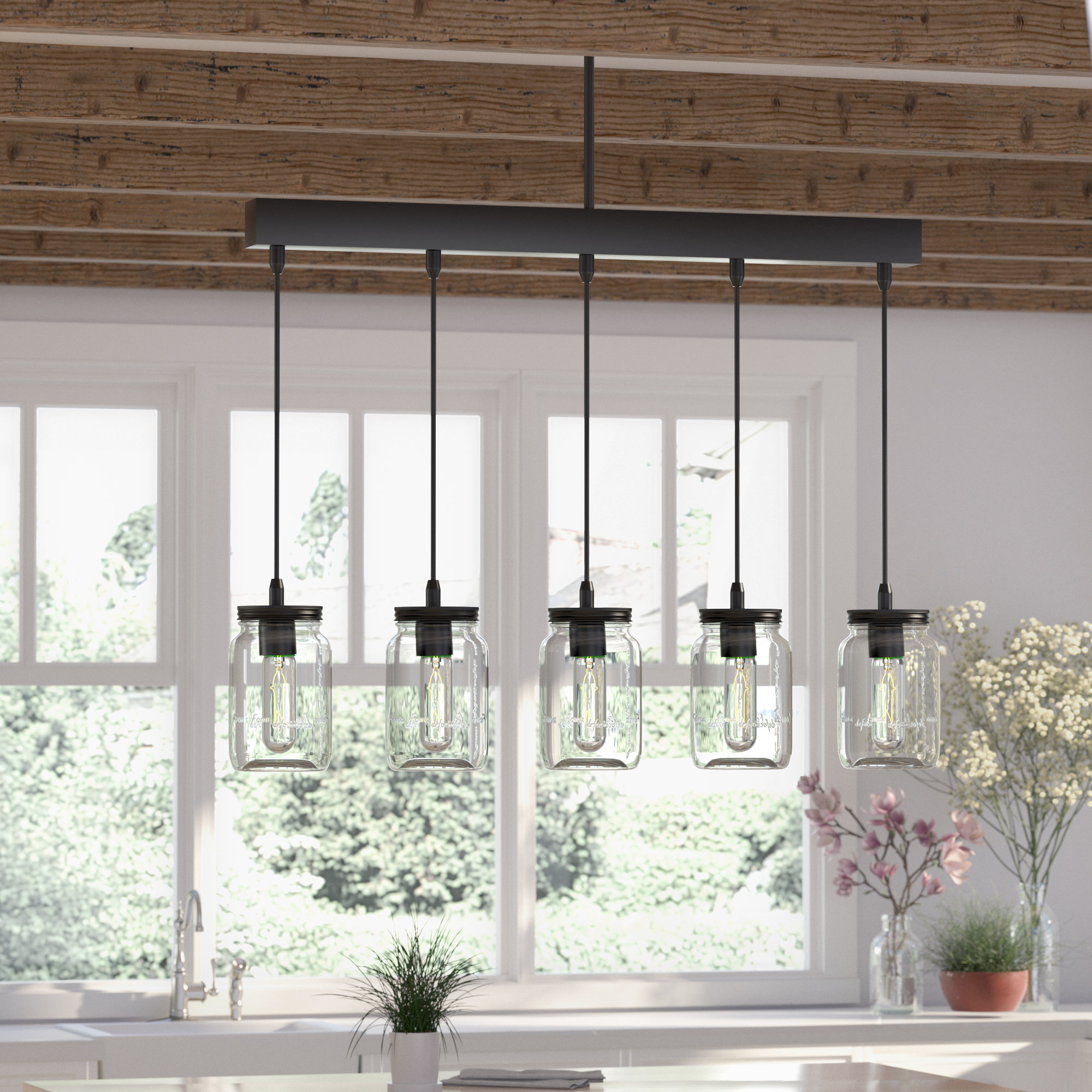 Extra Large Pendant Lighting | Wayfair Within Balducci 5 Light Pendants (Photo 17 of 30)