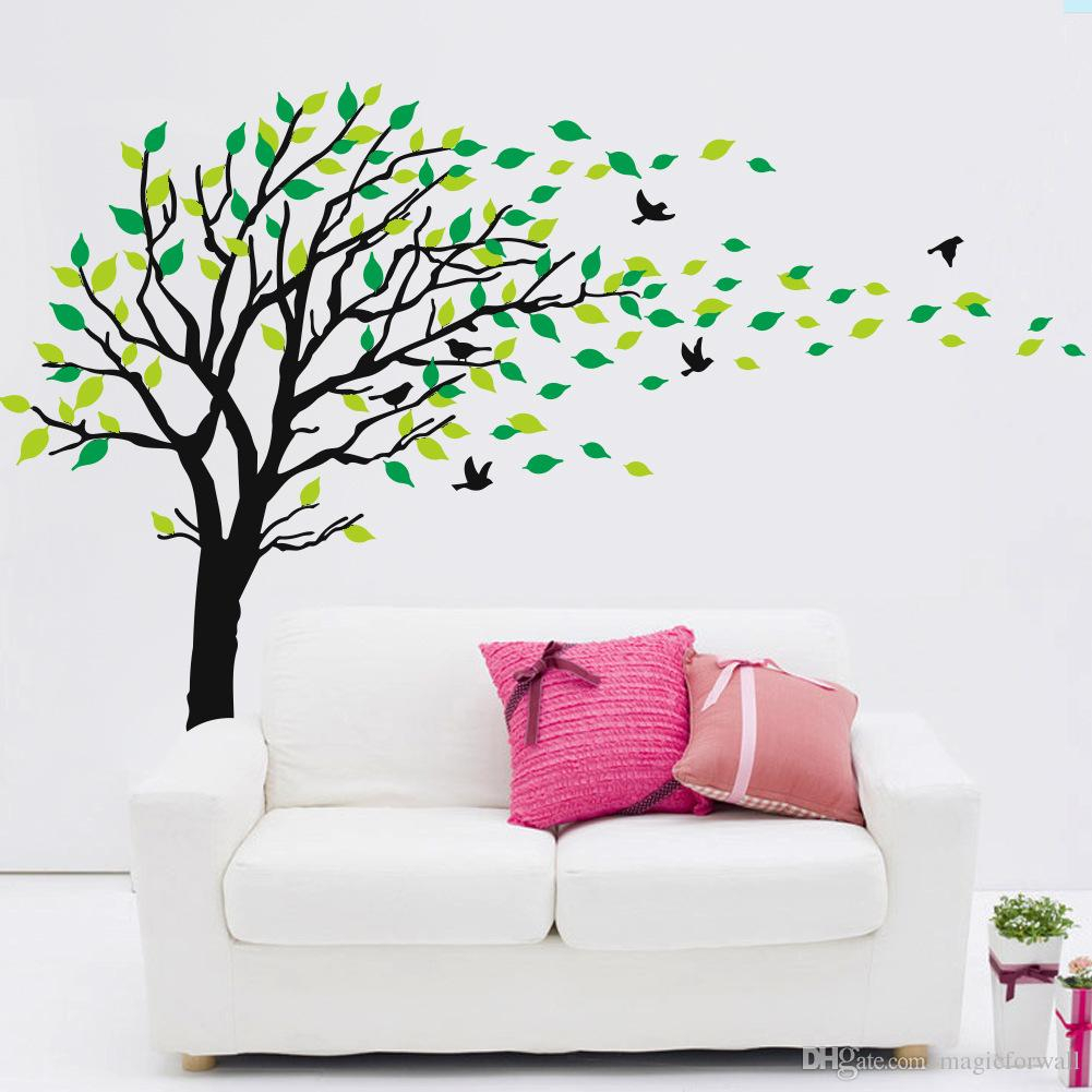 Extra Large Tree Wall Art Mural Decal Sticker Living Room Bedroom Background Wall Decoration Graphic Removable Transfer Pvc Wall Applique Within Tree Wall Decor (Gallery 29 of 30)