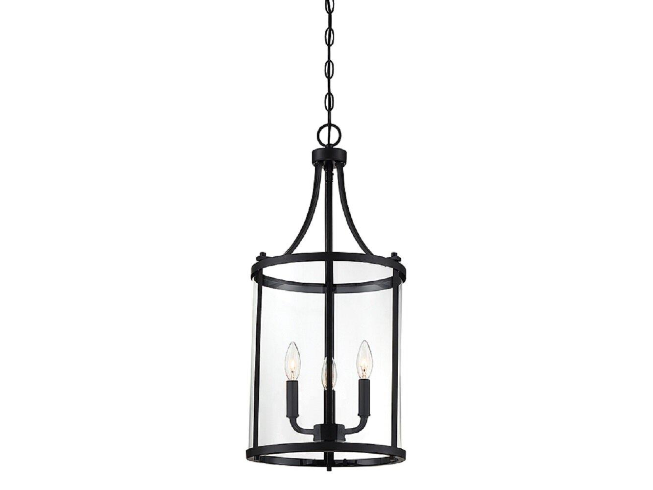 Ezio 3-Light Lantern Cylinder Pendant in Sherri-Ann 3-Light Lantern Square / Rectangle Pendants (Image 9 of 30)