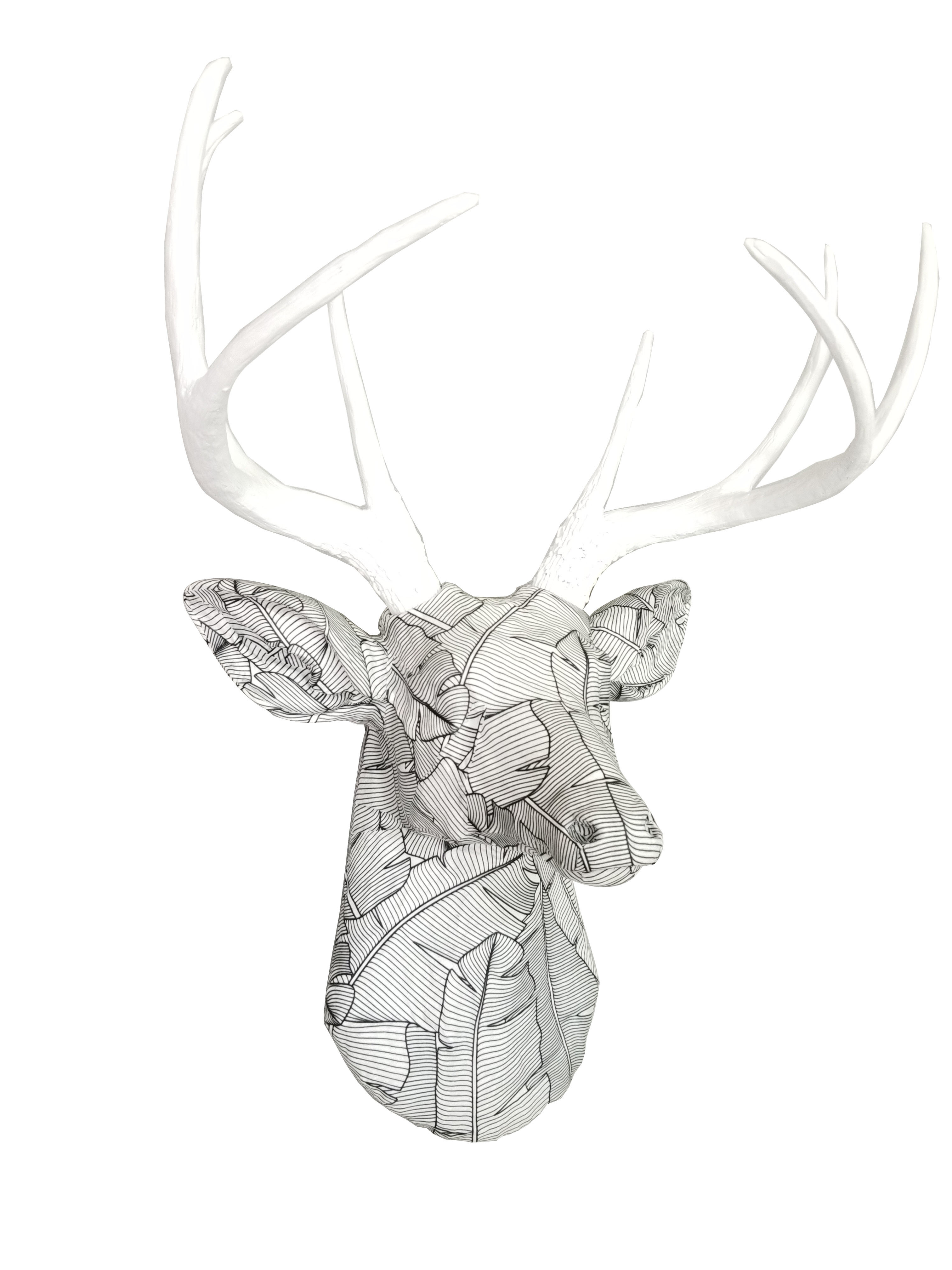 Fabric Deer Head Wall Décor Pertaining To Highlands Ranch The Templeton Wall Decor (View 15 of 30)