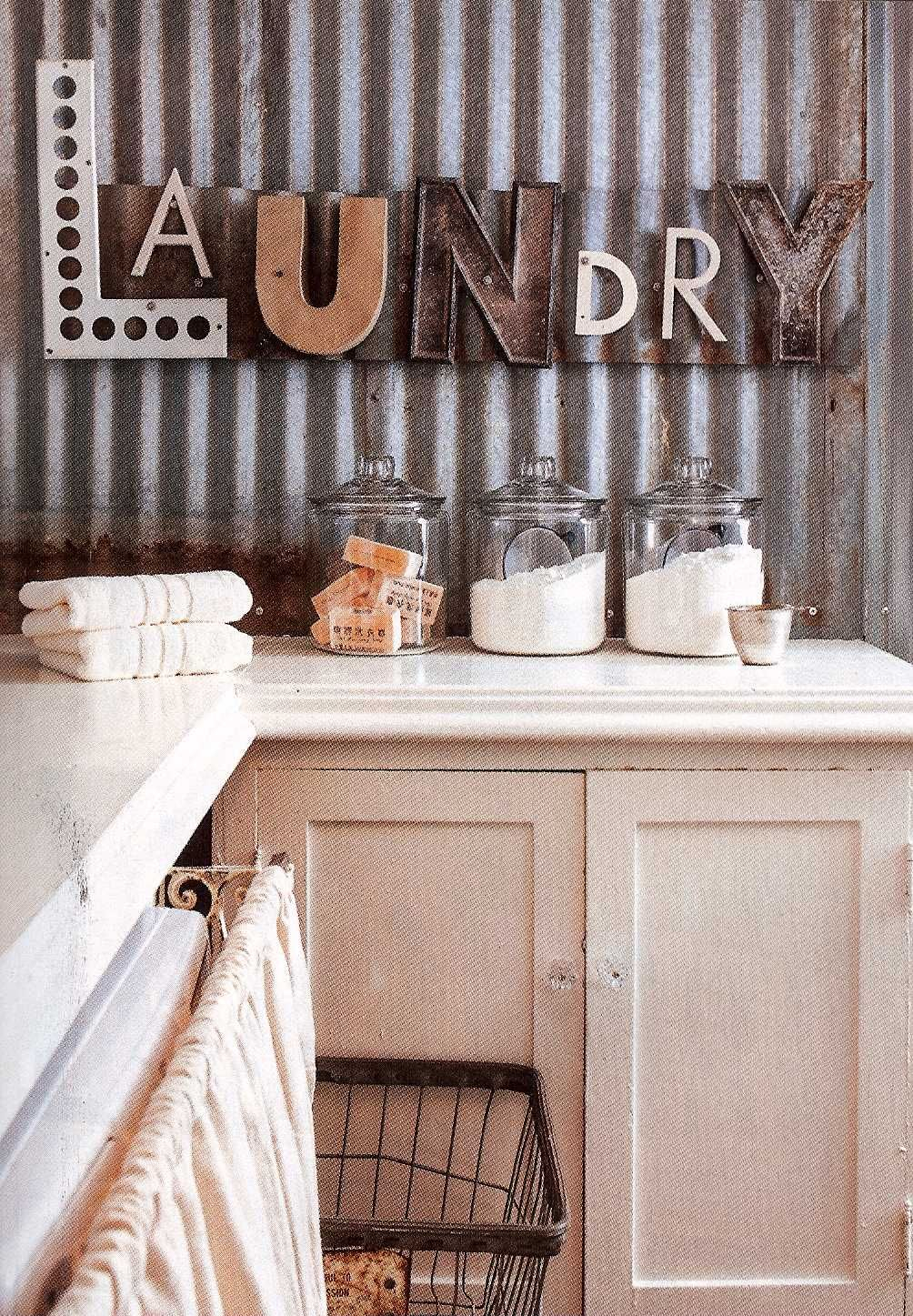 Fabulous Laundry Room With Laundry Repurposed Letters As Inside Metal Laundry Room Wall Decor (View 5 of 30)