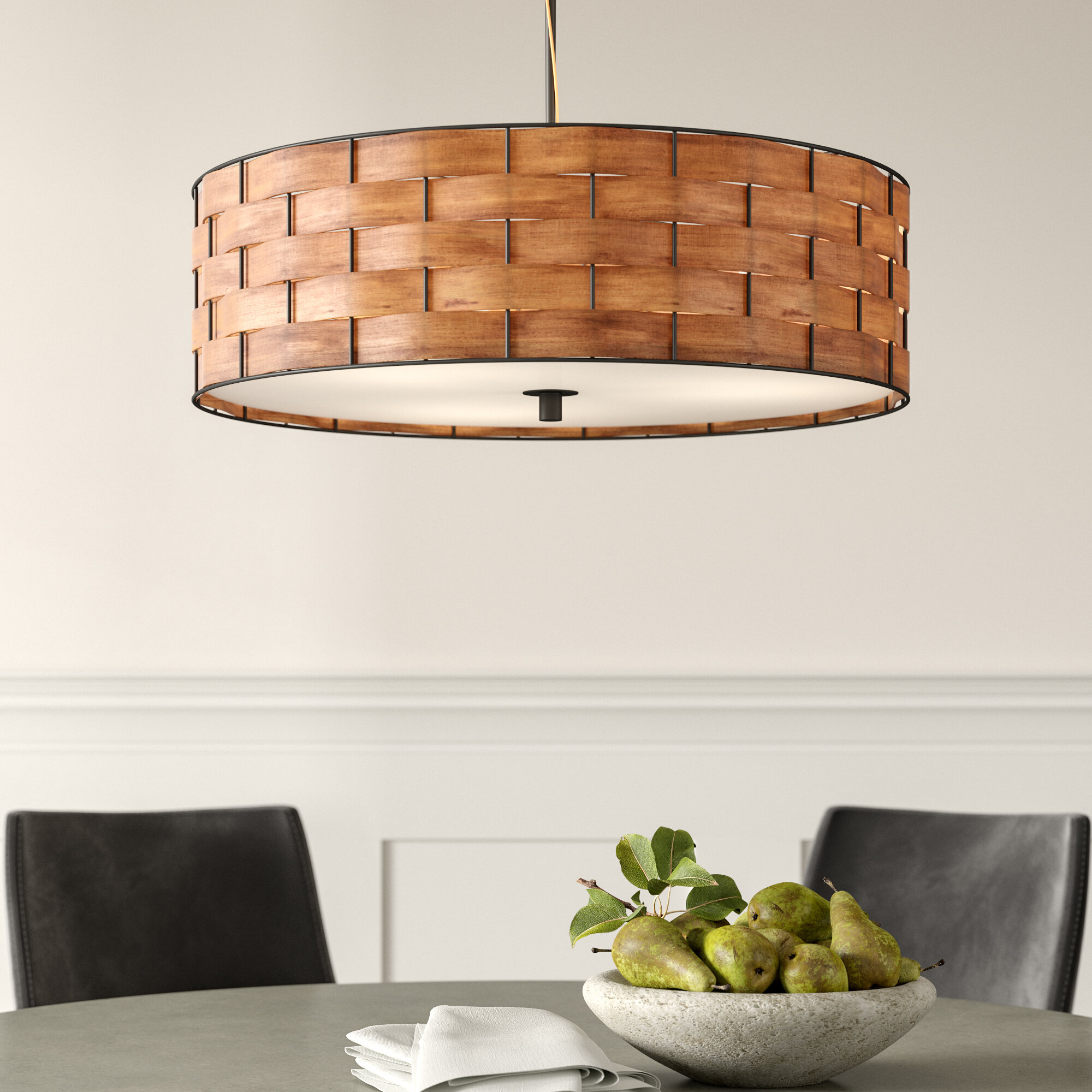 Fairlawn 3-Light Drum Chandelier intended for Alina 5-Light Drum Chandeliers (Image 19 of 30)