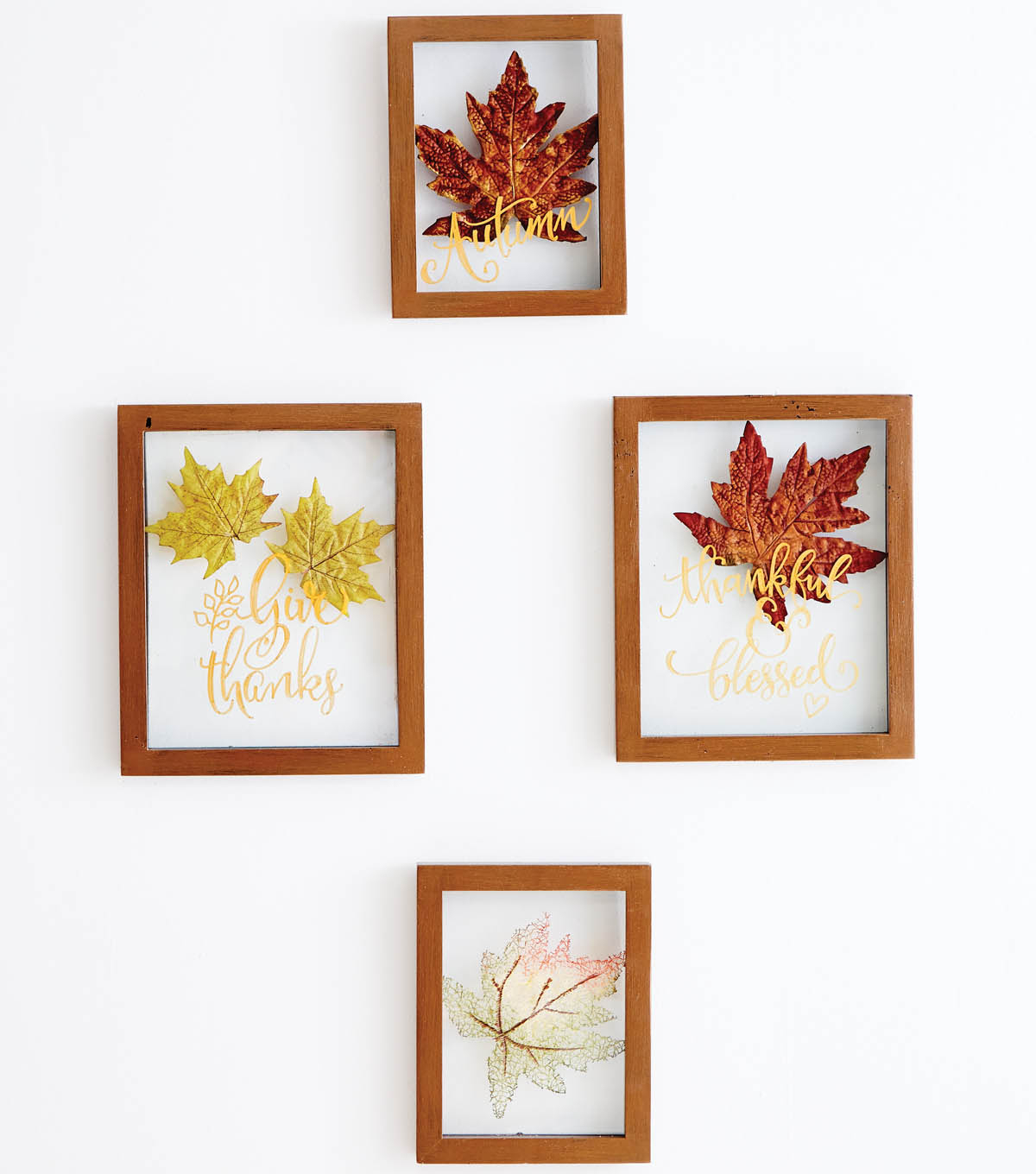 Fall Leaf Floating Frame Wall Decor Autumn Falling Leaves intended for Flowing Leaves Wall Decor (Image 7 of 30)