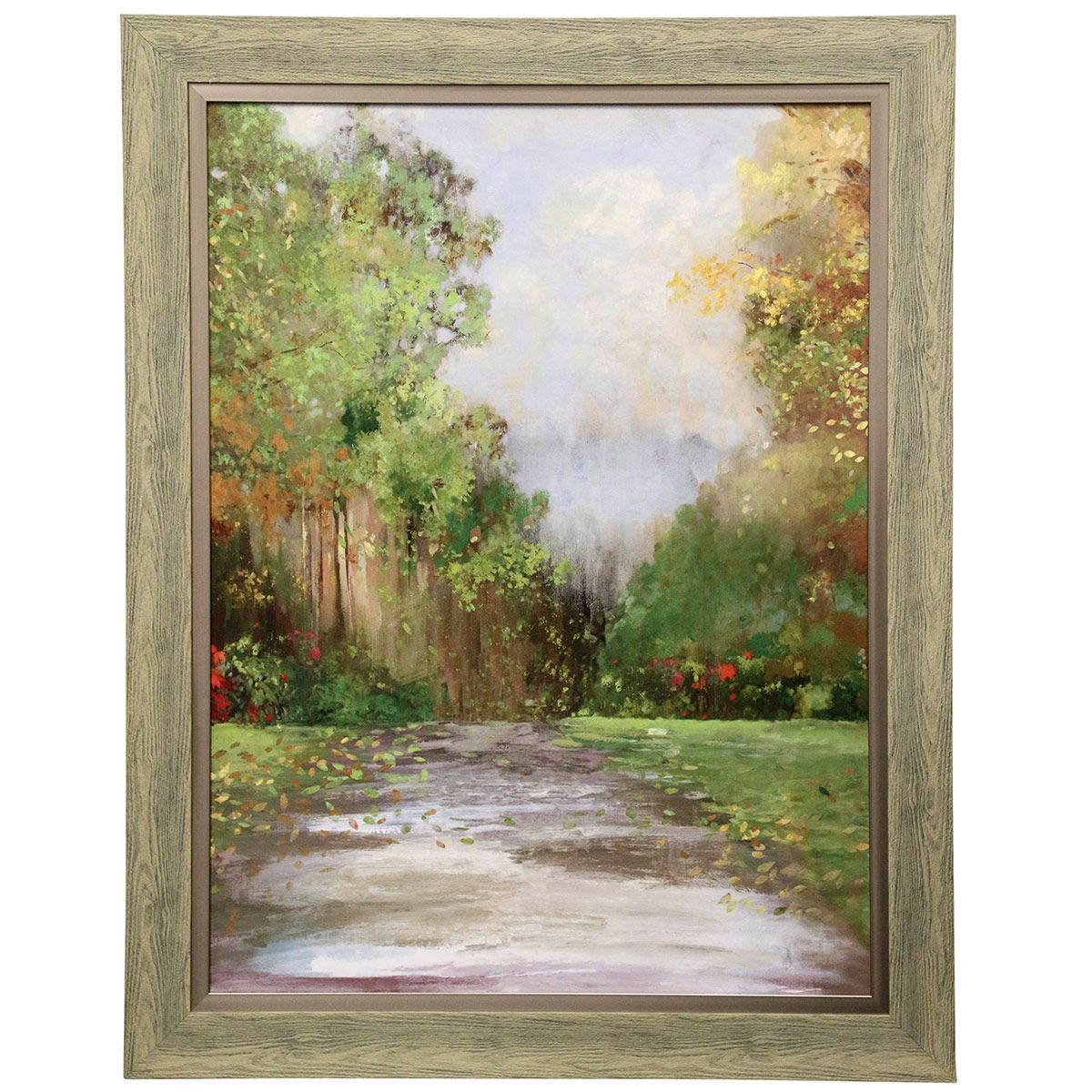 Falling Leaves Framed Wall Art pertaining to Flowing Leaves Wall Decor (Image 9 of 30)