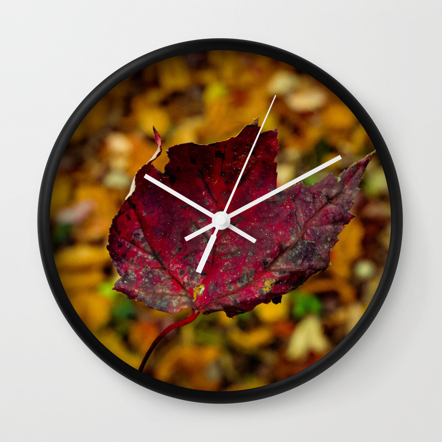 Falling Leaves Wall Clock throughout Flowing Leaves Wall Decor (Image 11 of 30)