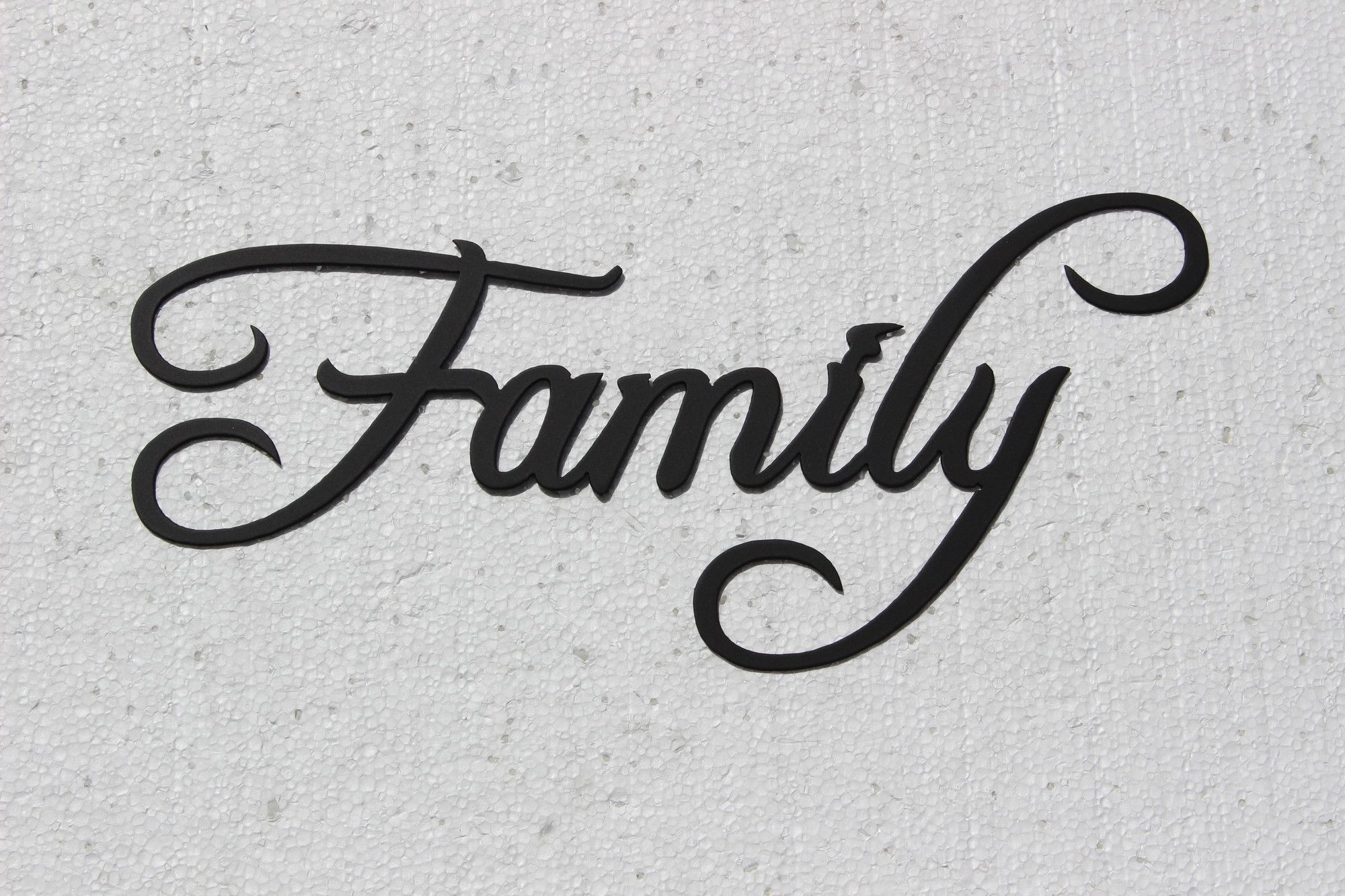 Family Word Sign Fancy Script Wall Décor | Hand Writing Inside Choose Happiness 3D Cursive Metal Wall Decor (View 5 of 30)