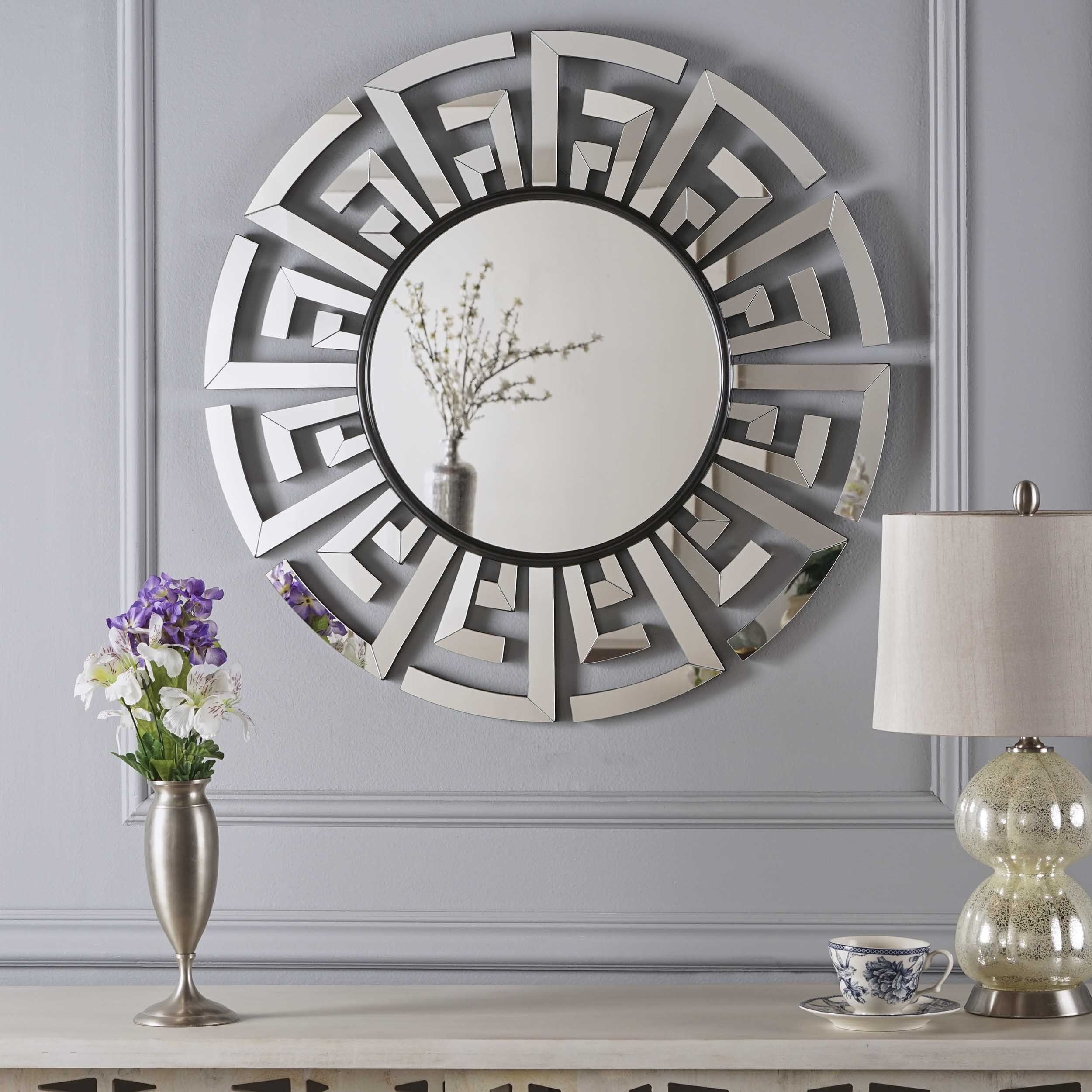 Far East Chinese Inspired Wall Mirror | Products | Round In Caja Rectangle Glass Frame Wall Mirrors (View 21 of 30)
