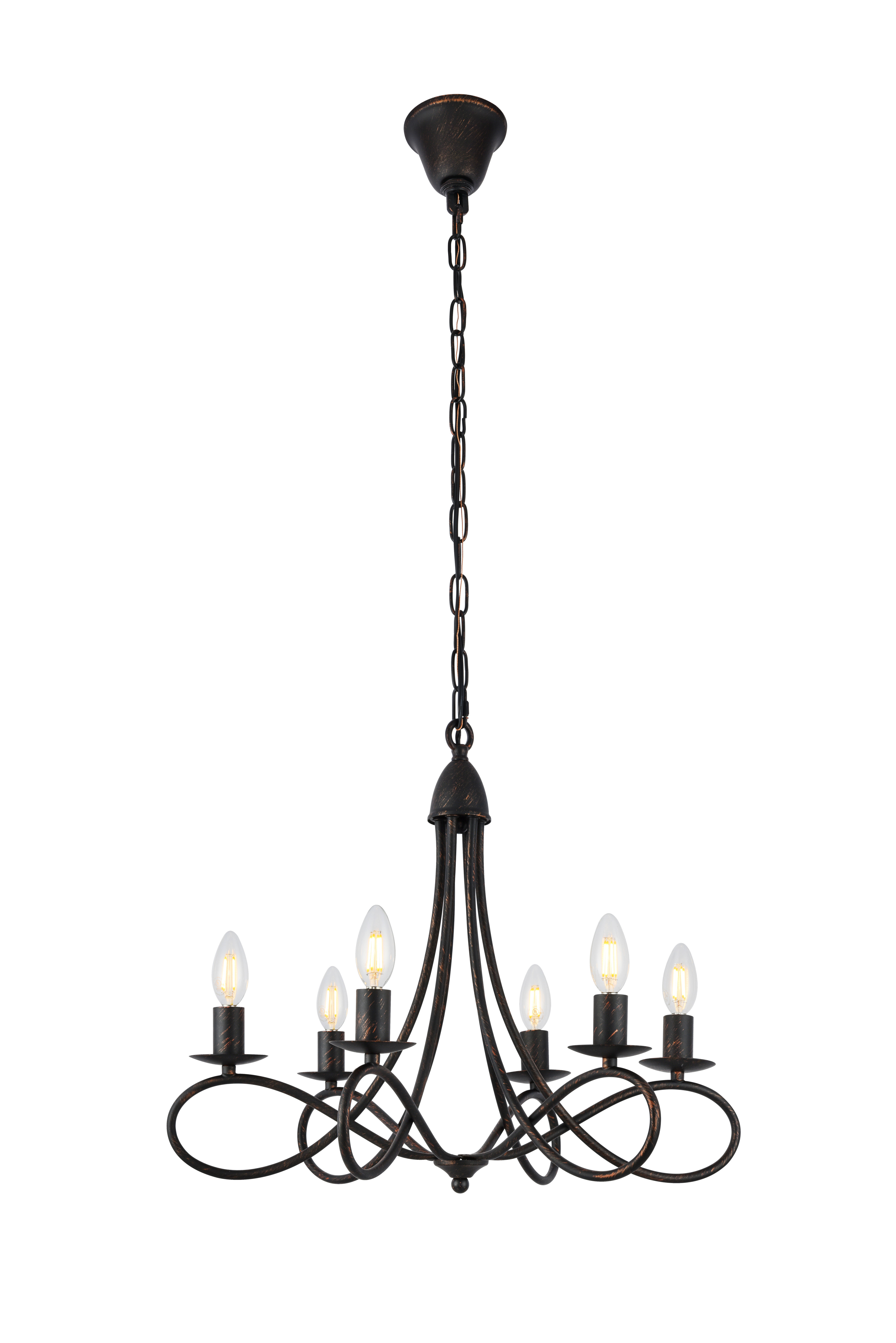 Farmhouse Chandeliers | Birch Lane Regarding Wadlington 6 Light Single Cylinder Pendants (View 13 of 30)