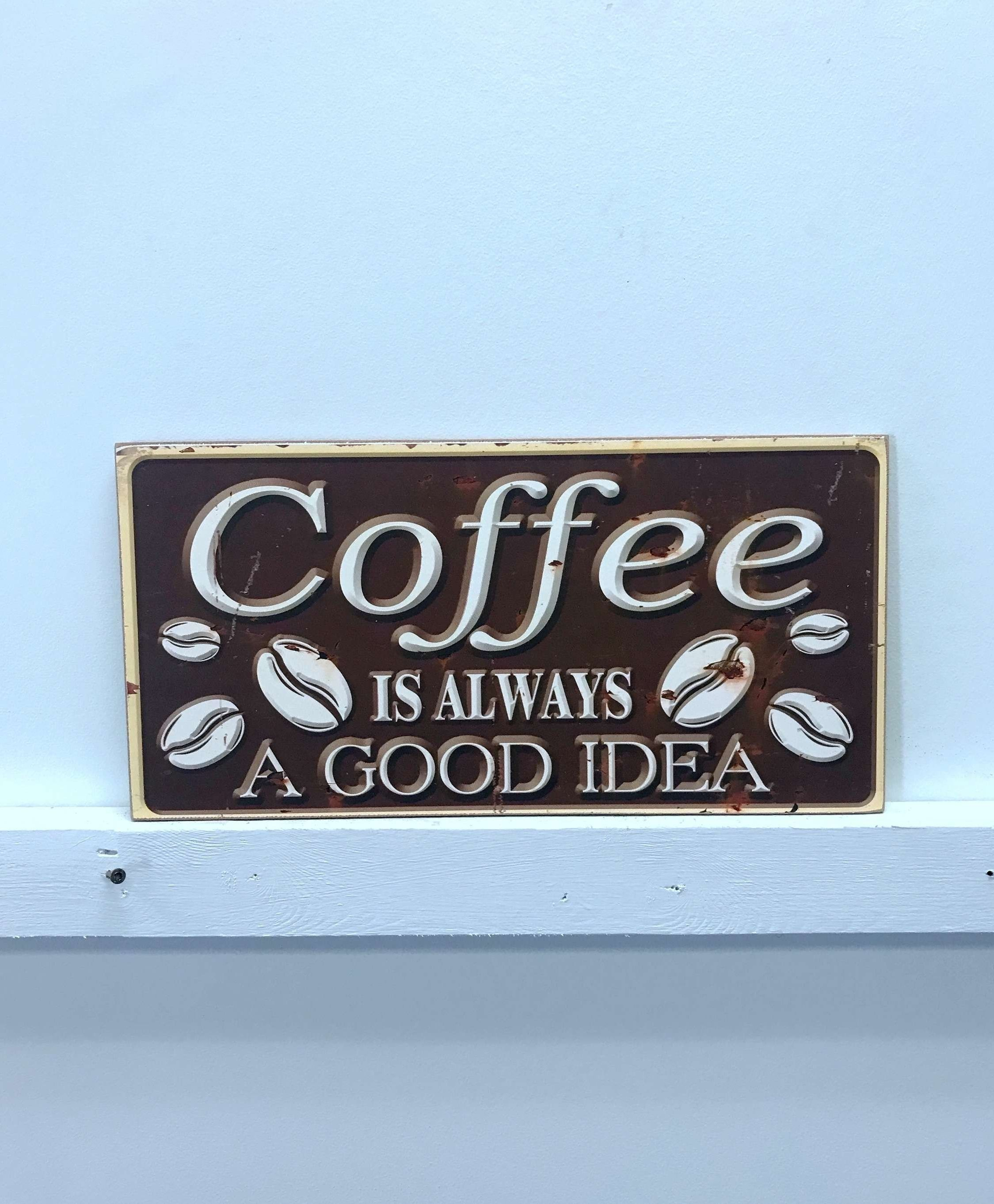 Farmhouse Coffee Sign | Wayfair throughout Coffee Sign With Rebar Wall Decor (Image 7 of 30)