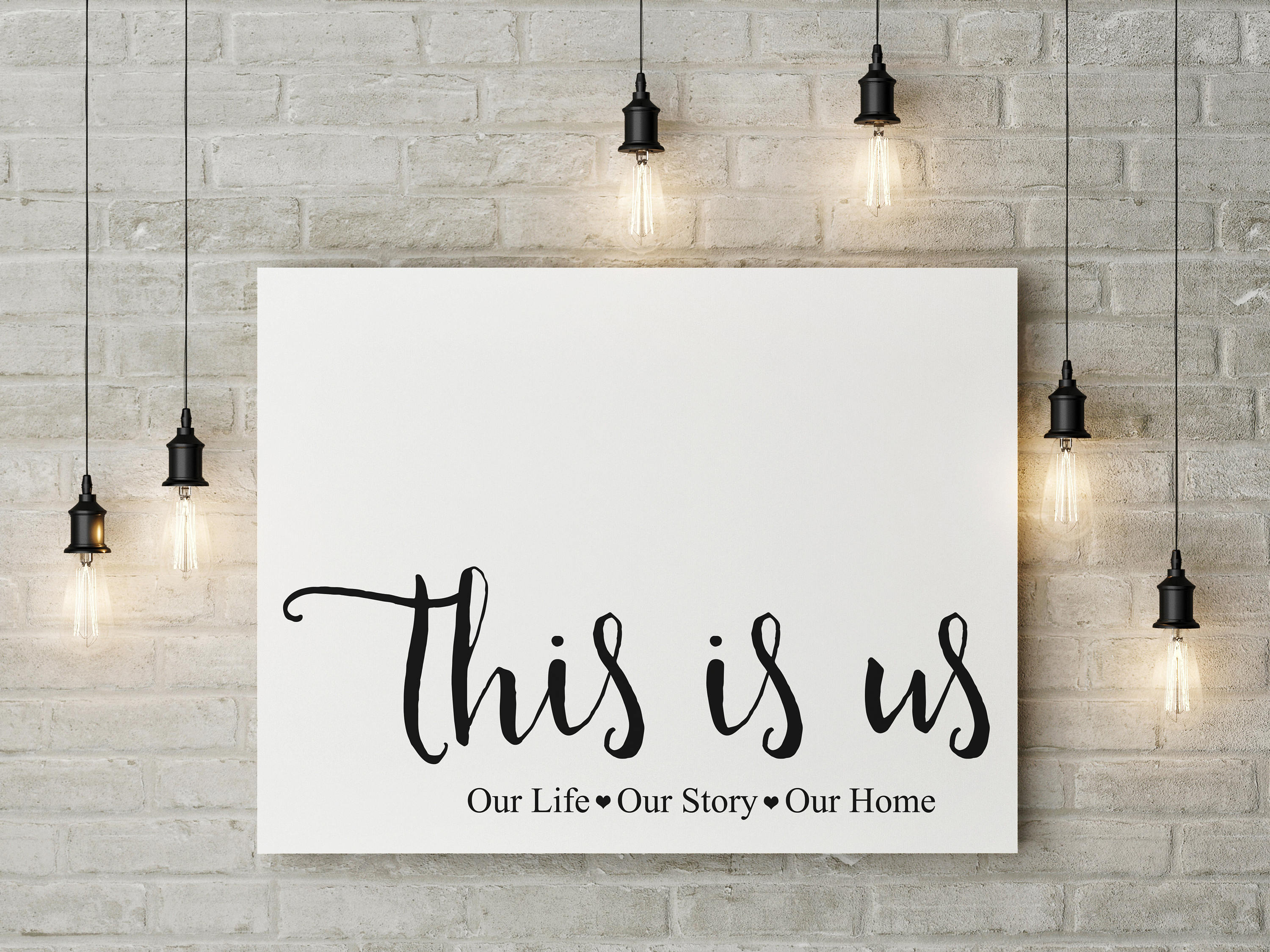 Farmhouse Decor This Is Us Our Life Our Story Our Home Print,gallery Wall Art,farmhouse,8x10,11x14,16x20 With Regard To This Is Us Wall Decor (View 17 of 30)